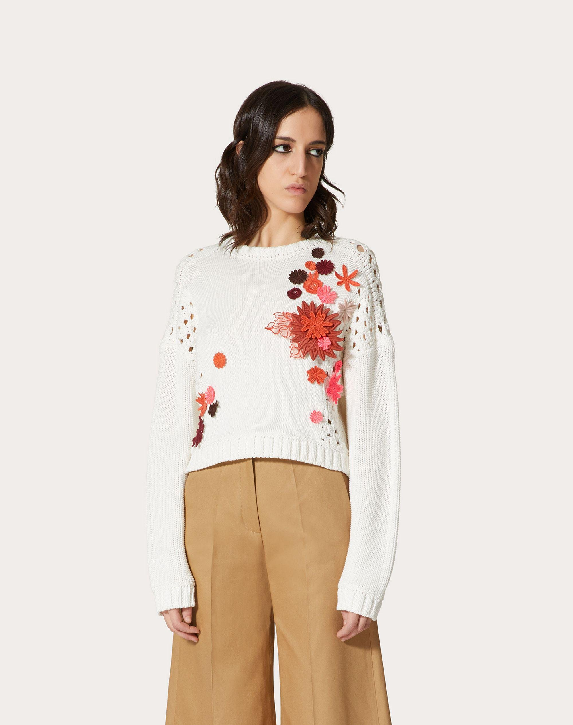 EMBROIDERED COTTON SWEATER 1