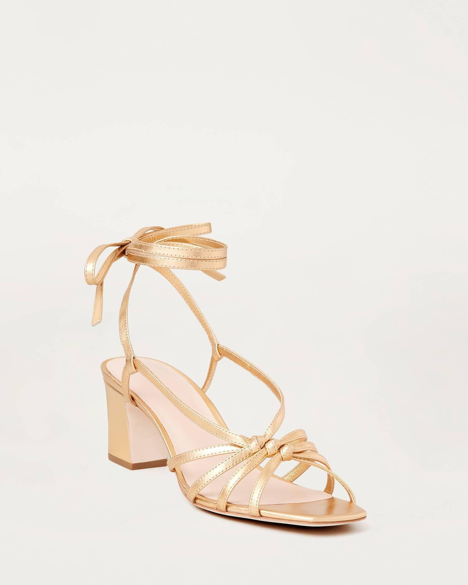 Libby Knotted Wrap Sandal Gold
