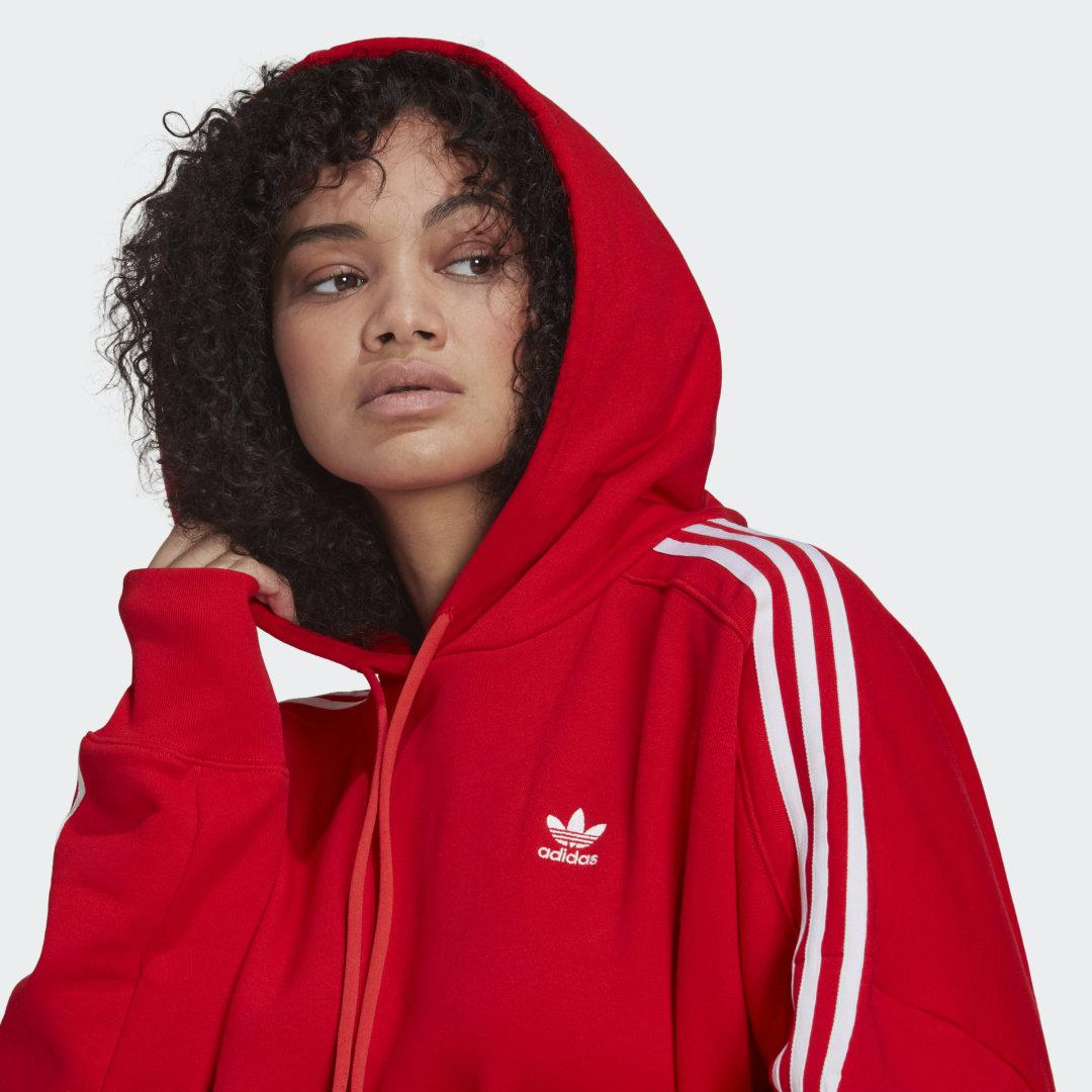 Adicolor Classics Cropped Hoodie (Plus Size) Red 2
