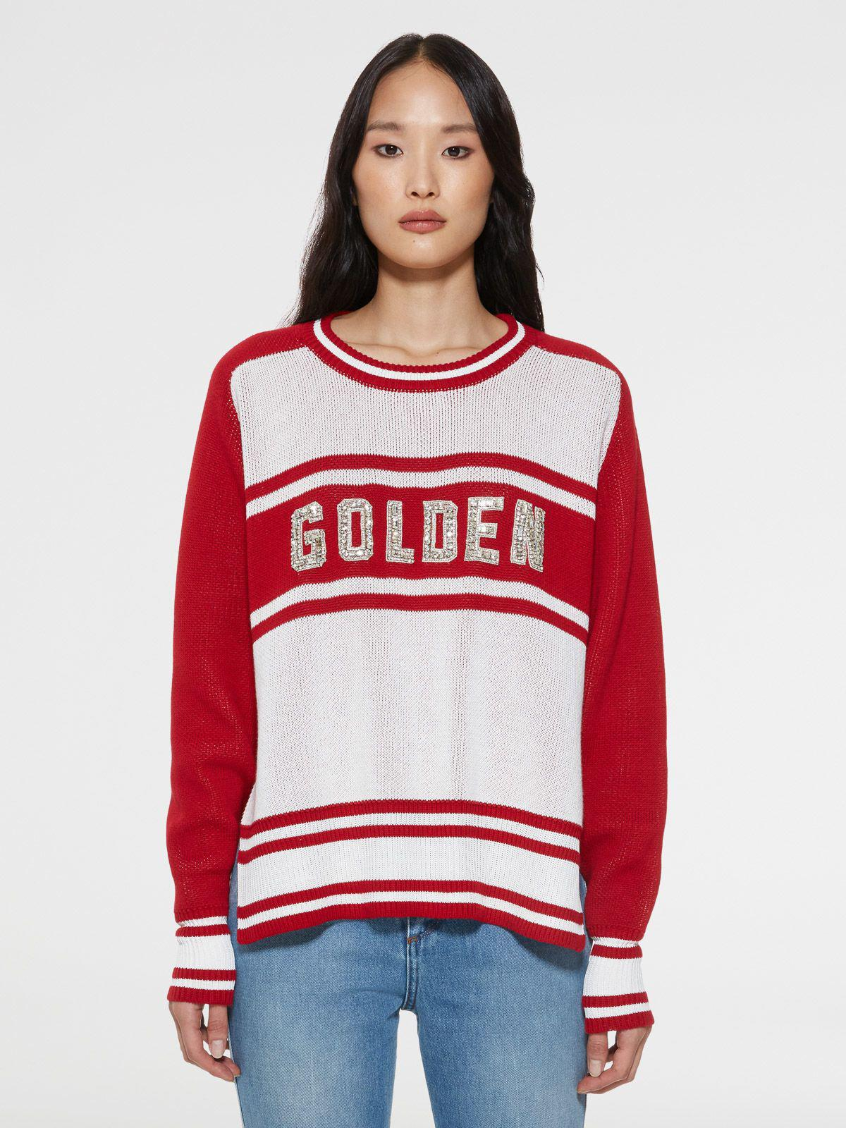 Dianne sweater with Golden lettering with crystals