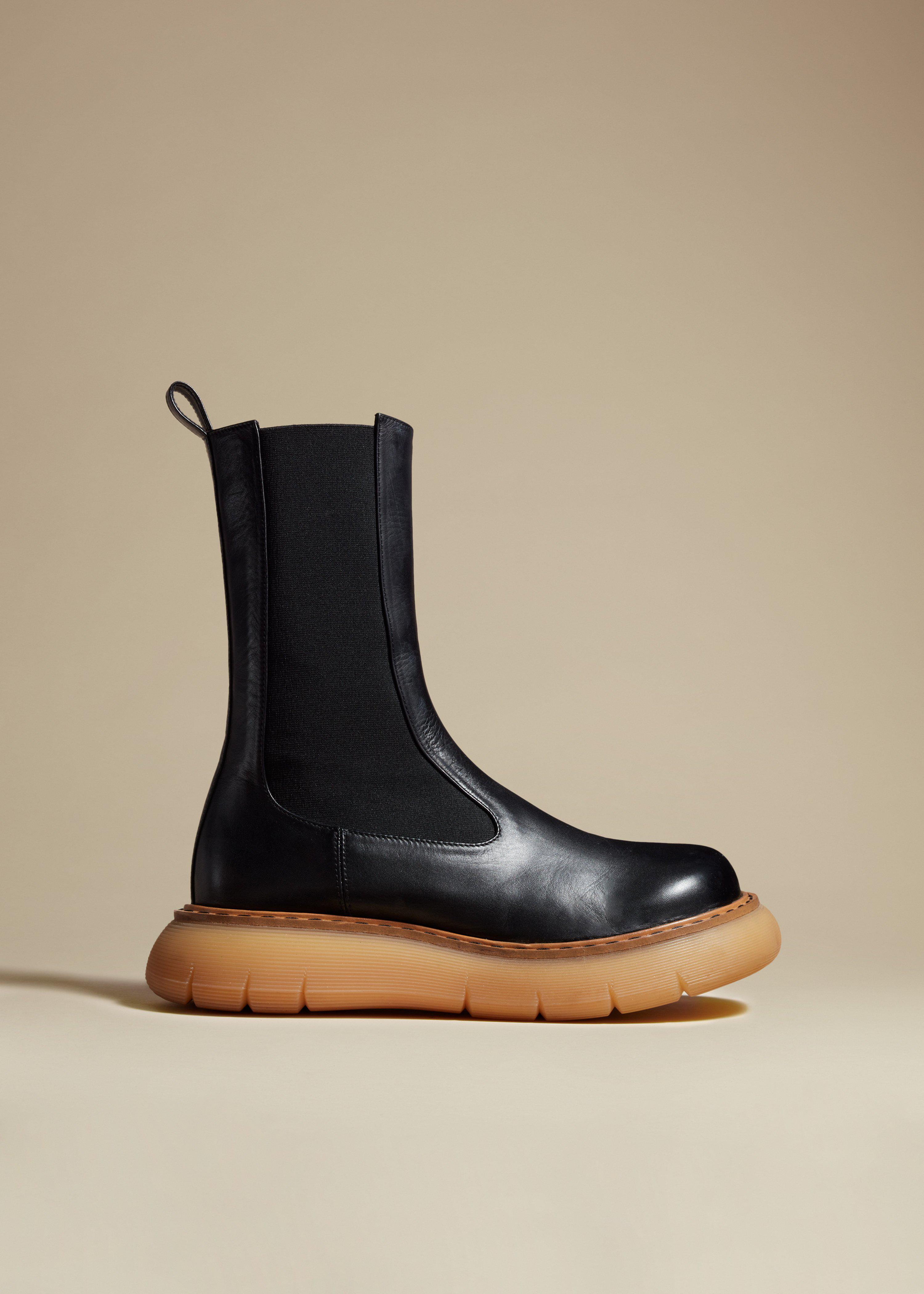 The Bleecker Boot in Black Leather