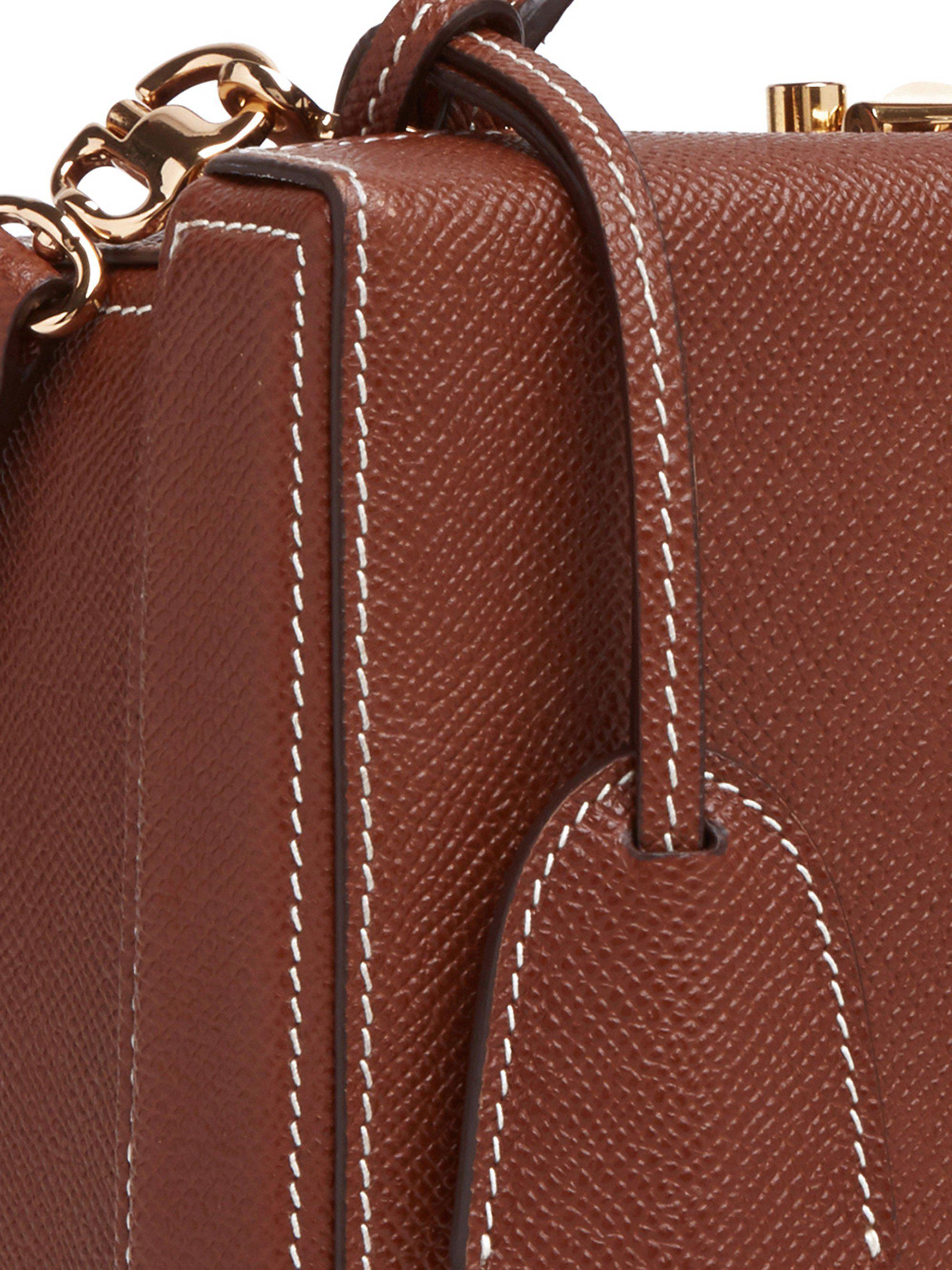 Grace Small Leather Box Bag 1