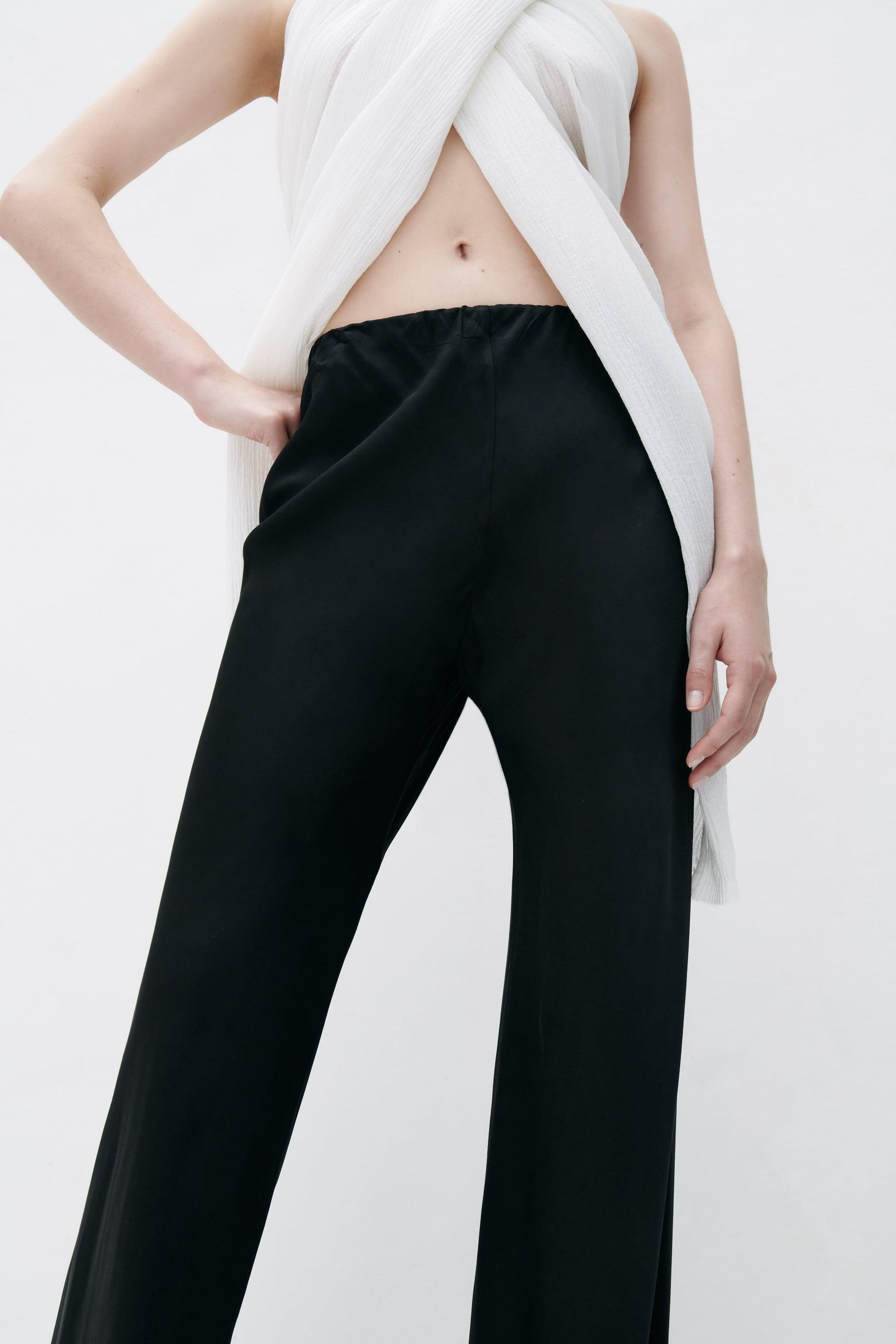 FLARED SATIN EFFECT PANTS 1