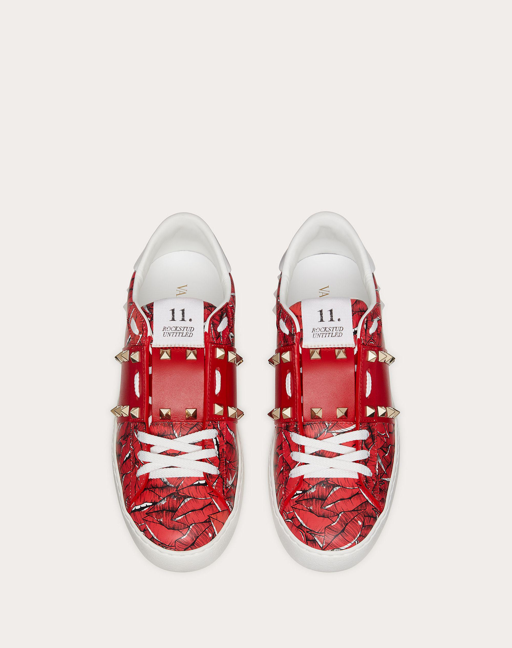 Rockstud Untitled Sneaker with print 3