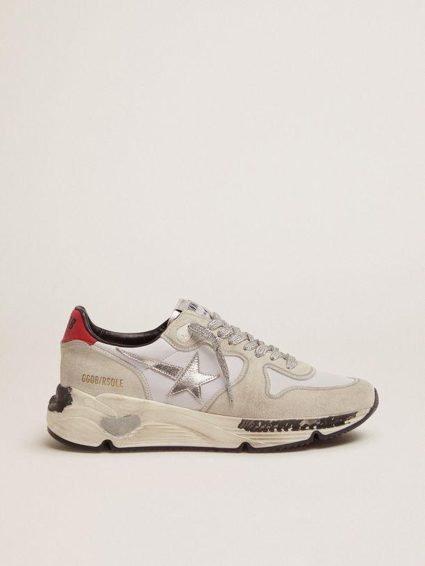Running Sole sneakers with red heel tab and silver star