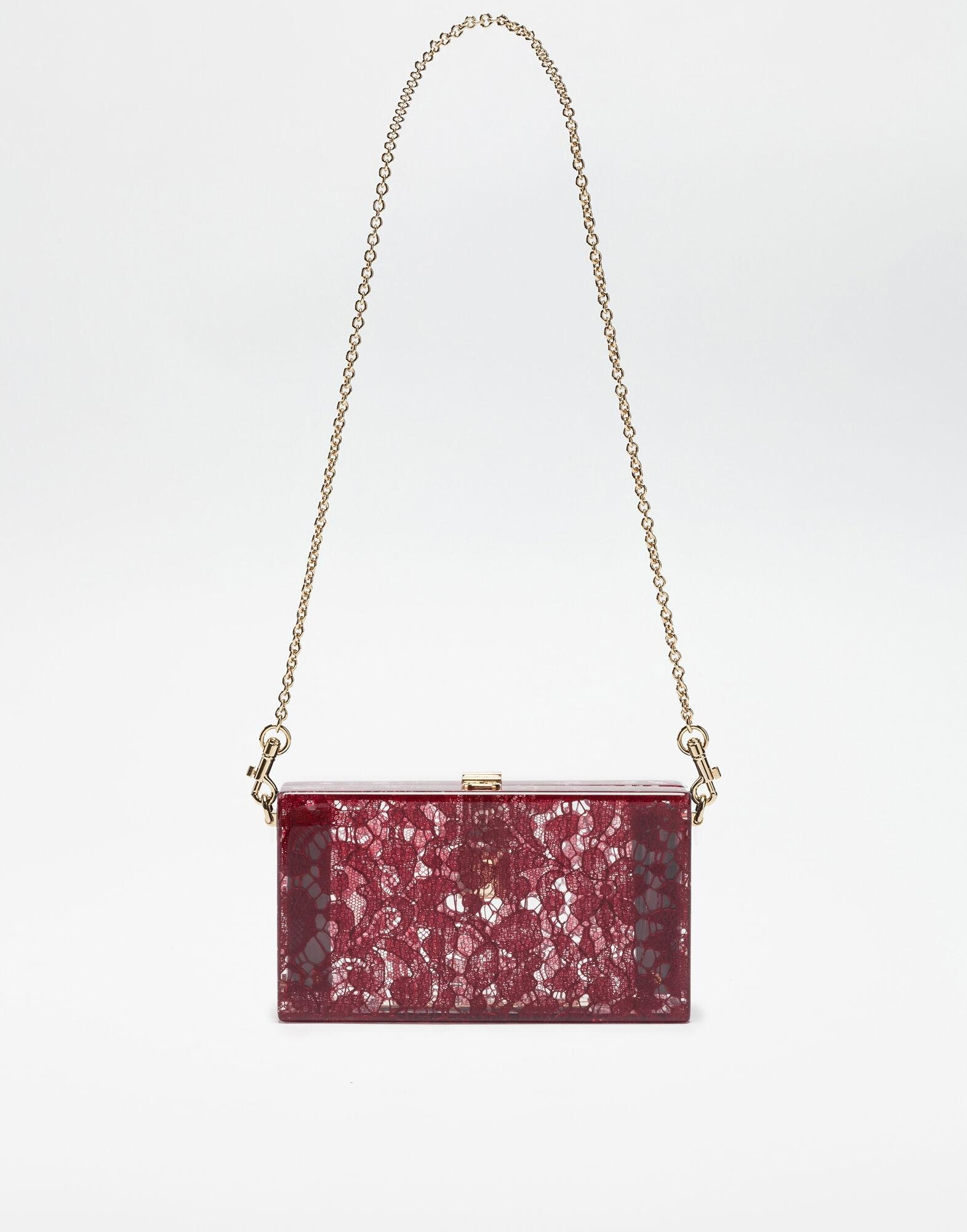 Dolce Box clutch in plexiglass and lace 2