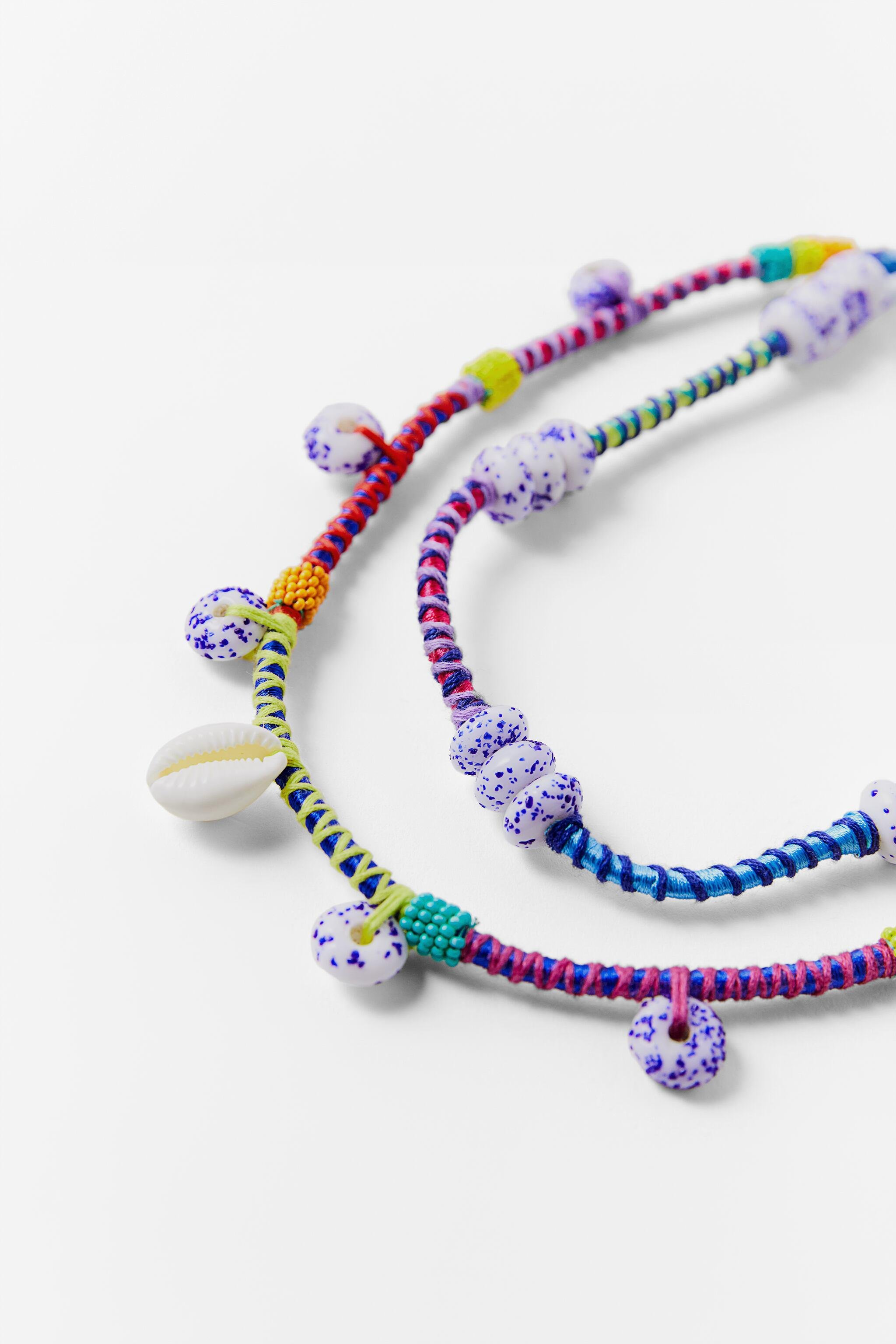 BEADED SHELL NECKLACE 3