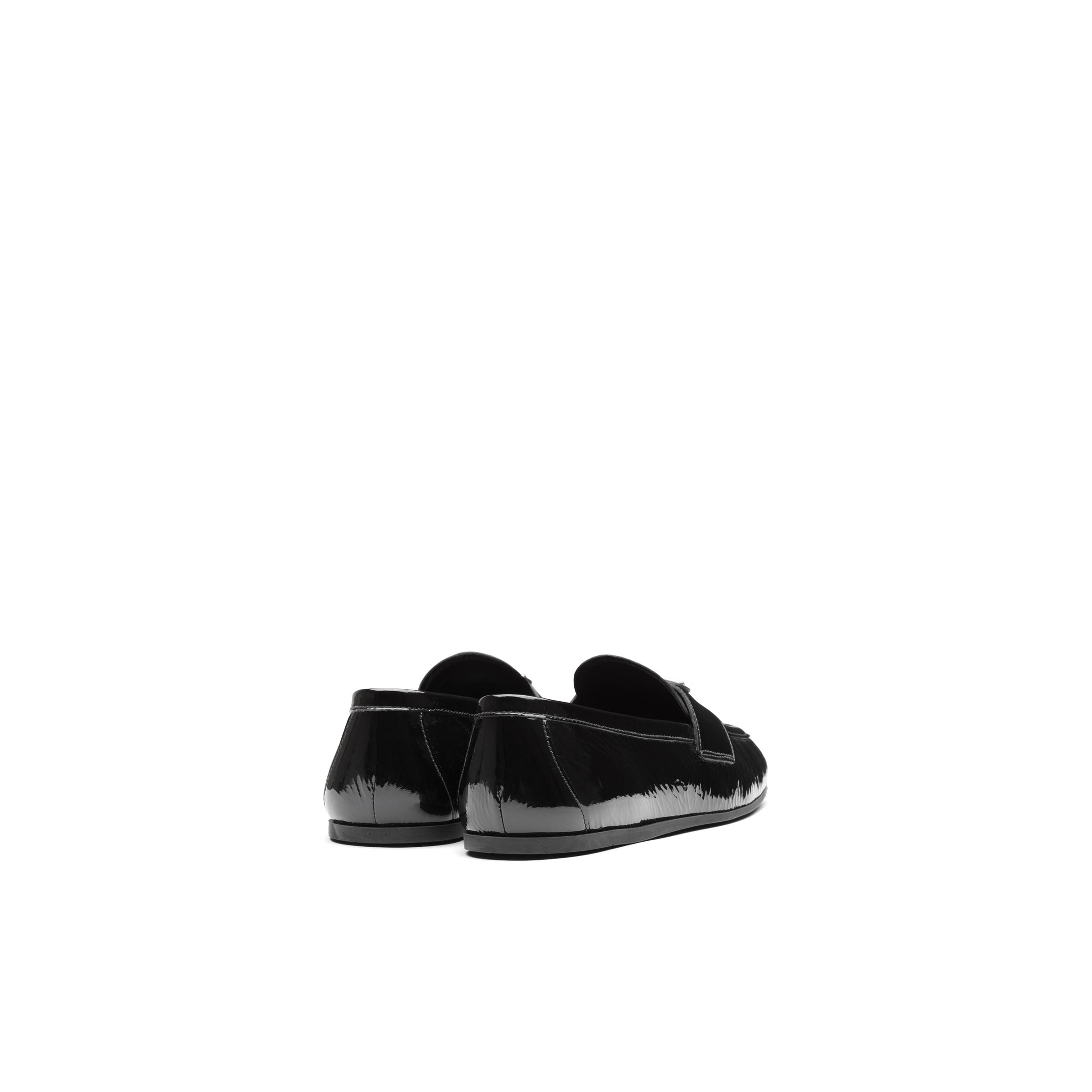 Patent Leather Loafers Women Black Size 36 3