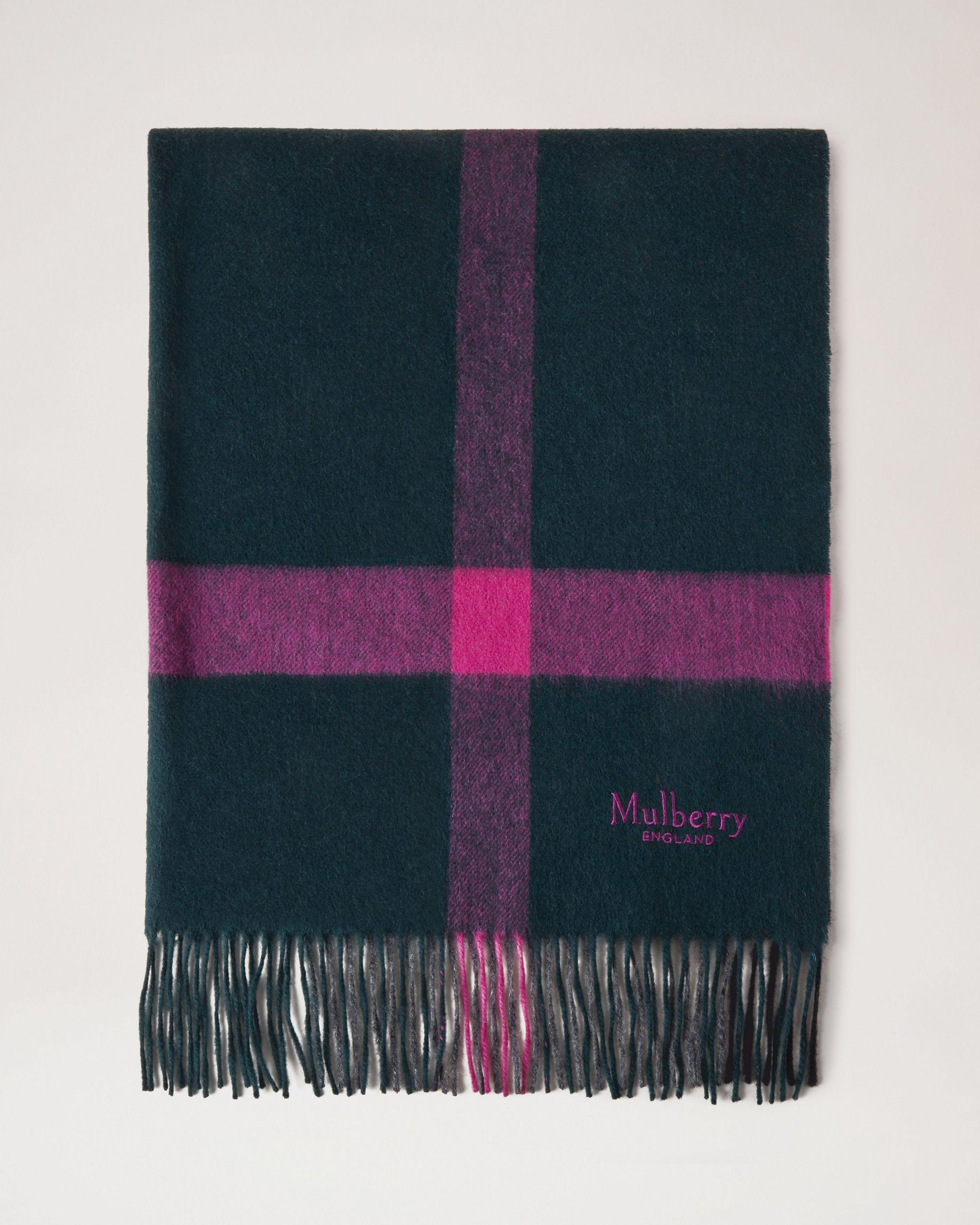Large Check Lambswool Scarf