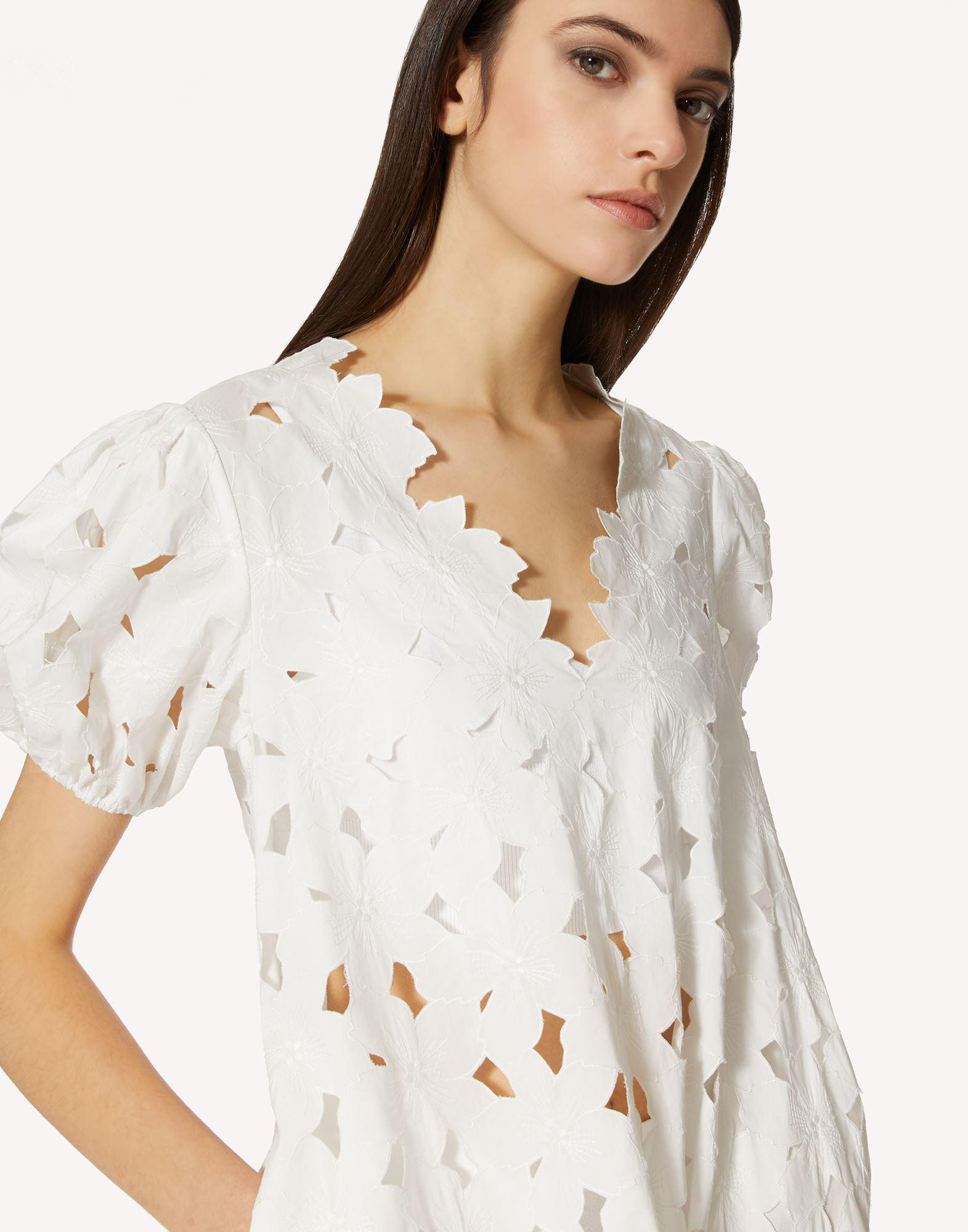 COTTON POPLIN DRESS WITH CUT-OUT EMBROIDERY 3