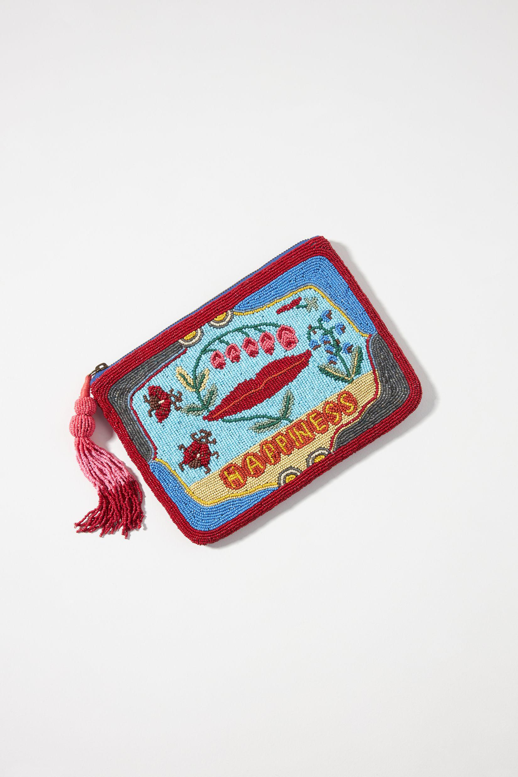 Lucky Charm Beaded Pouch
