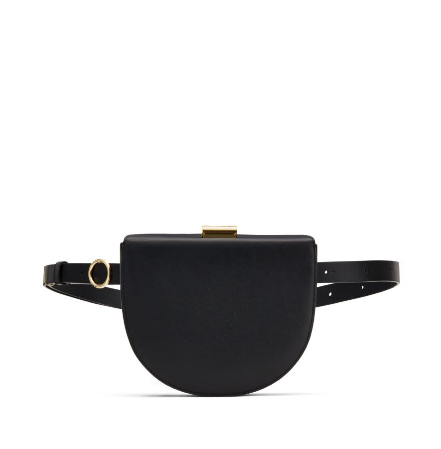 Women's Crescent Belt Bag in Black | Smooth Leather by Cuyana