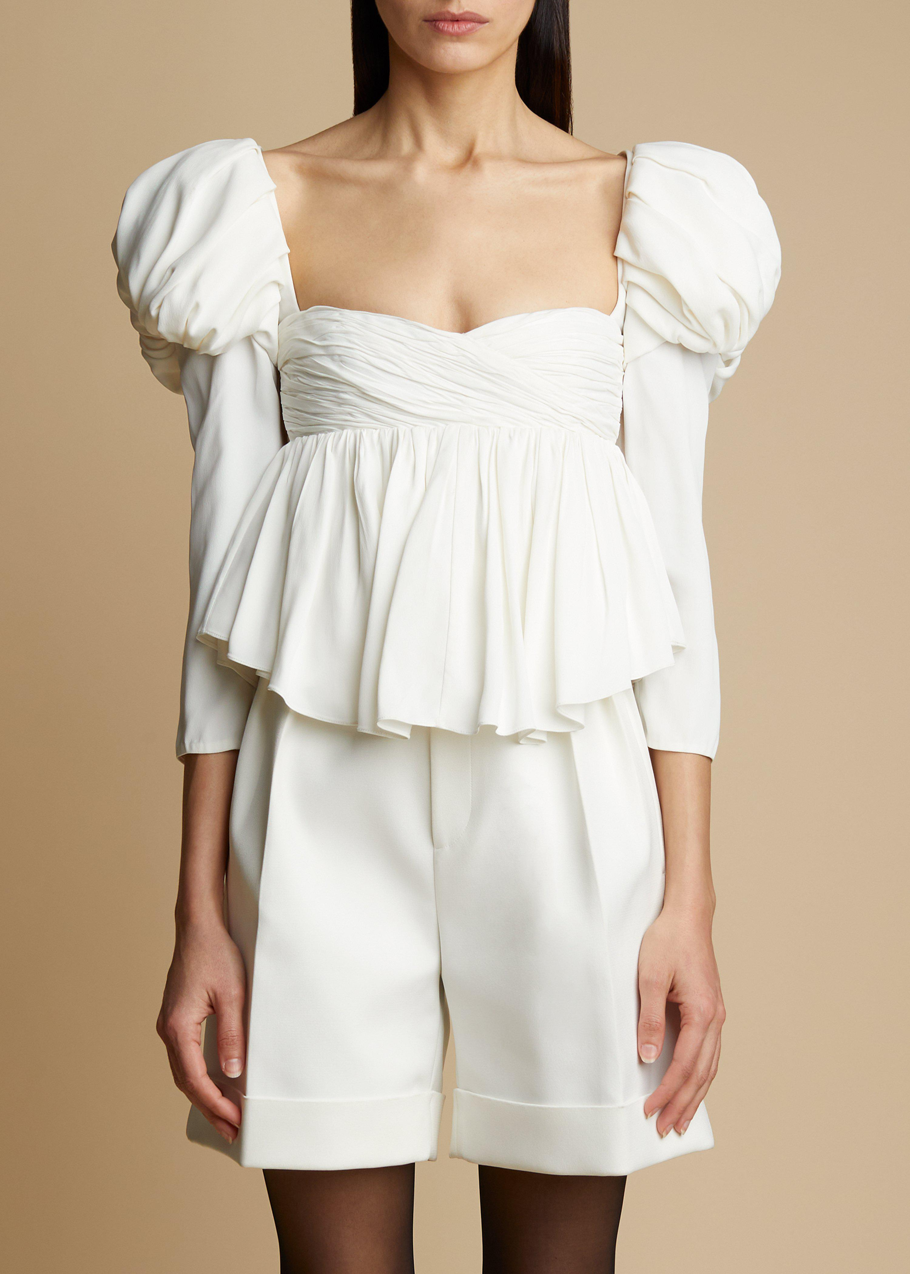 The Kim Top in Ivory