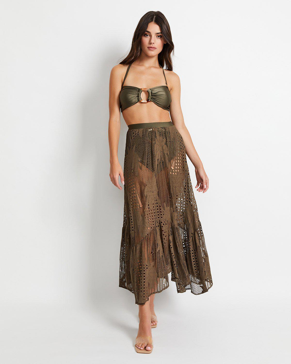 Palm Lace Beach Skirt (ONLINE EXCLUSIVE)