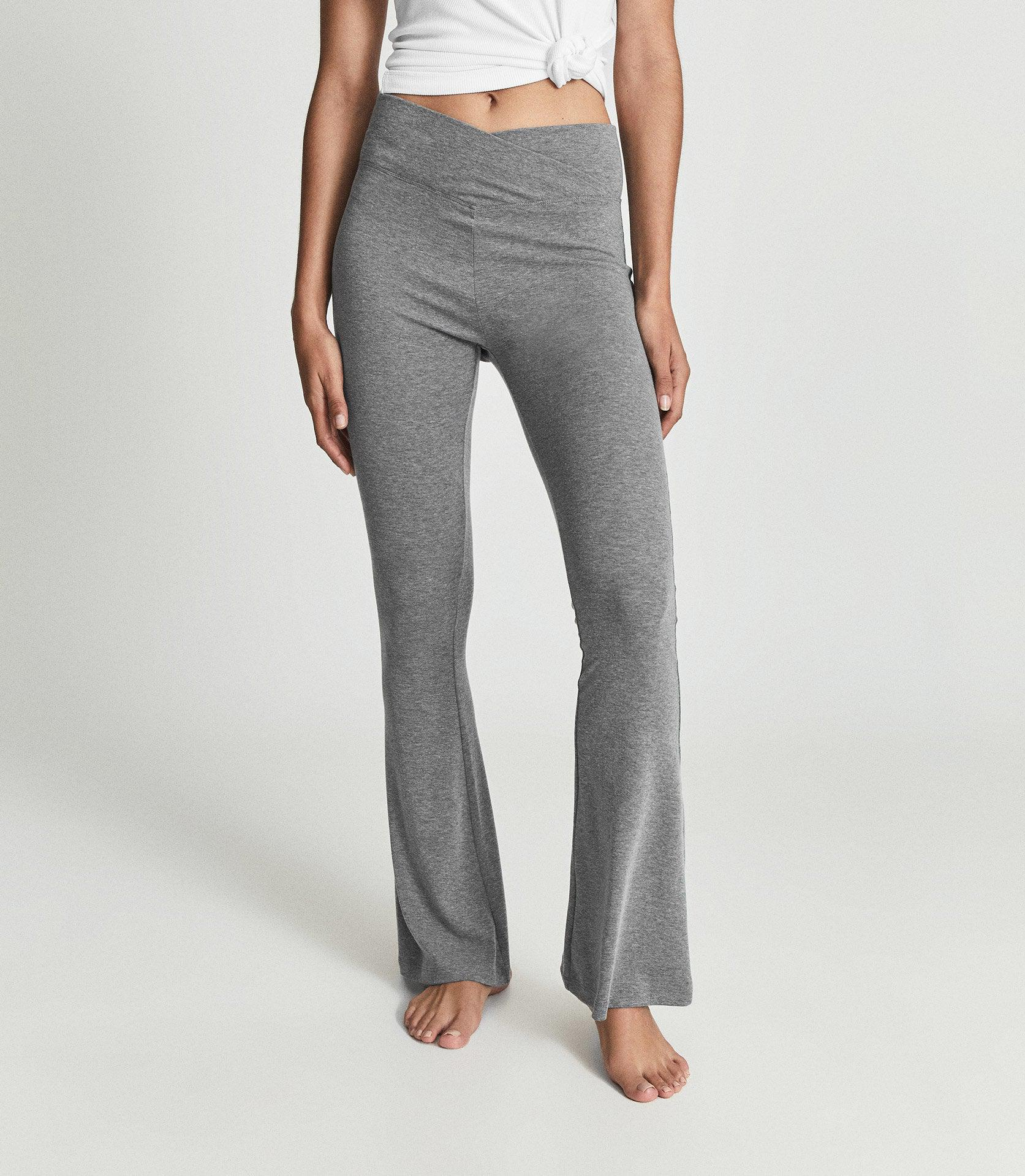 FLO - FLARED JERSEY TROUSERS