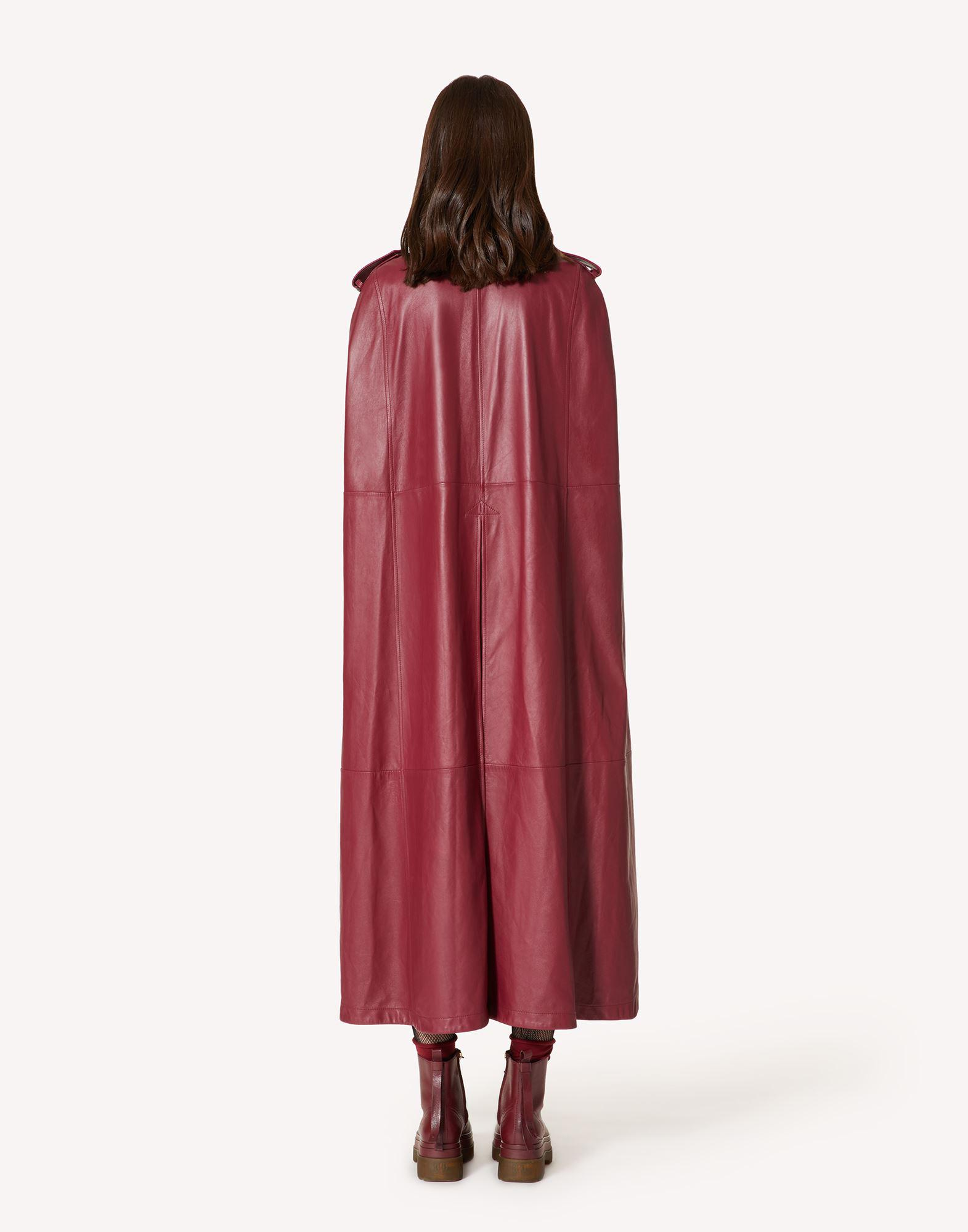 LEATHER TRENCH-LIKE CAPE 1
