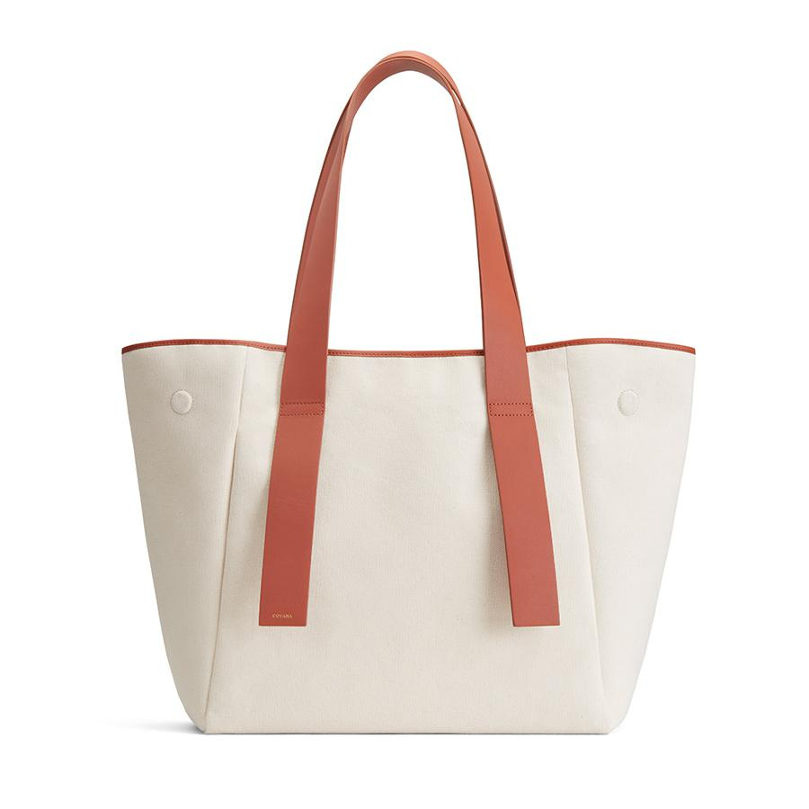 Women's Canvas Tote Bag in Natural | Canvas & Smooth Leather by Cuyana