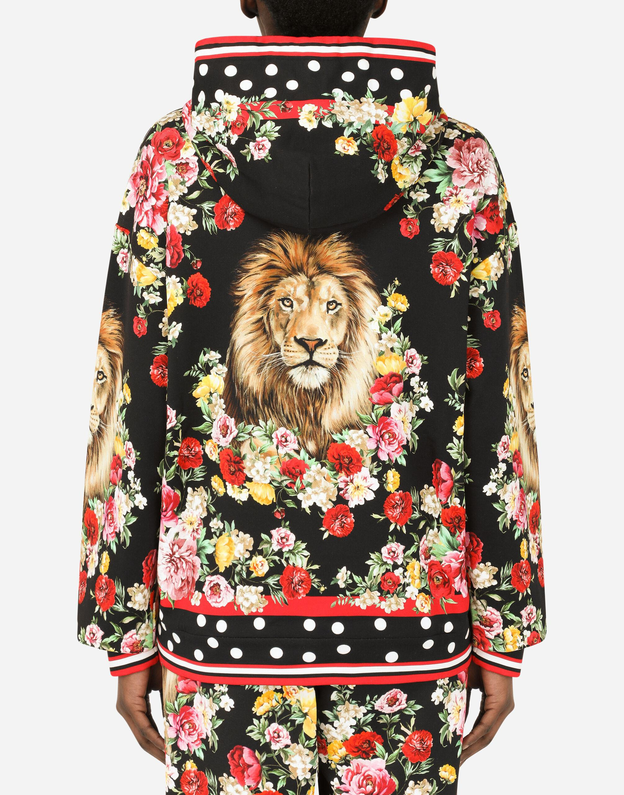Hoodie with lion mix print 6
