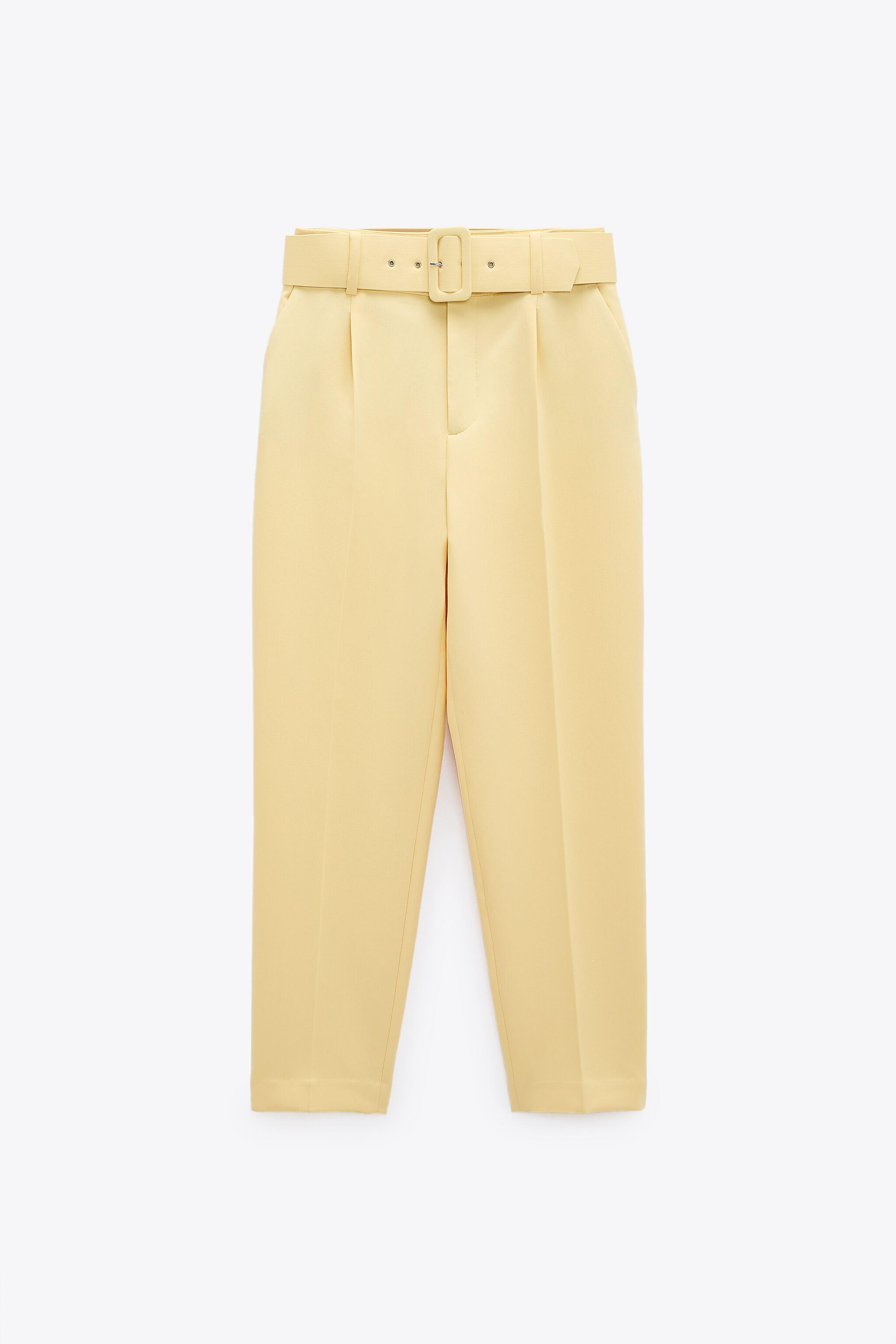 HIGH-WAISTED BELTED PANTS 6