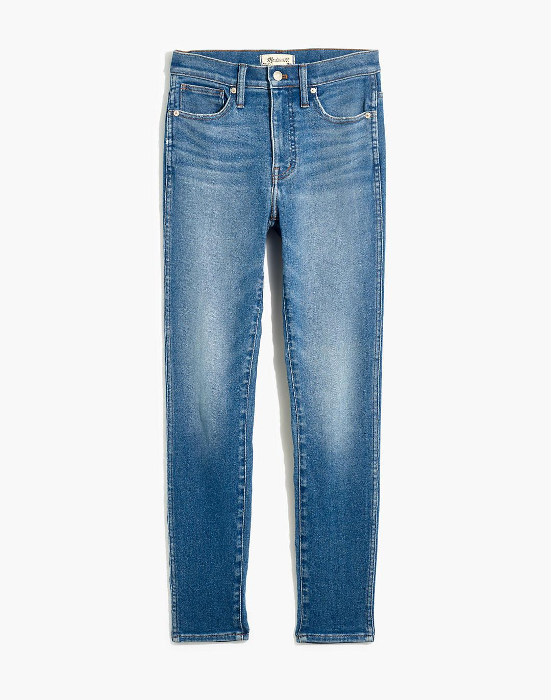 """10"""" High-Rise Skinny Crop Jeans in Sheffield Wash 5"""