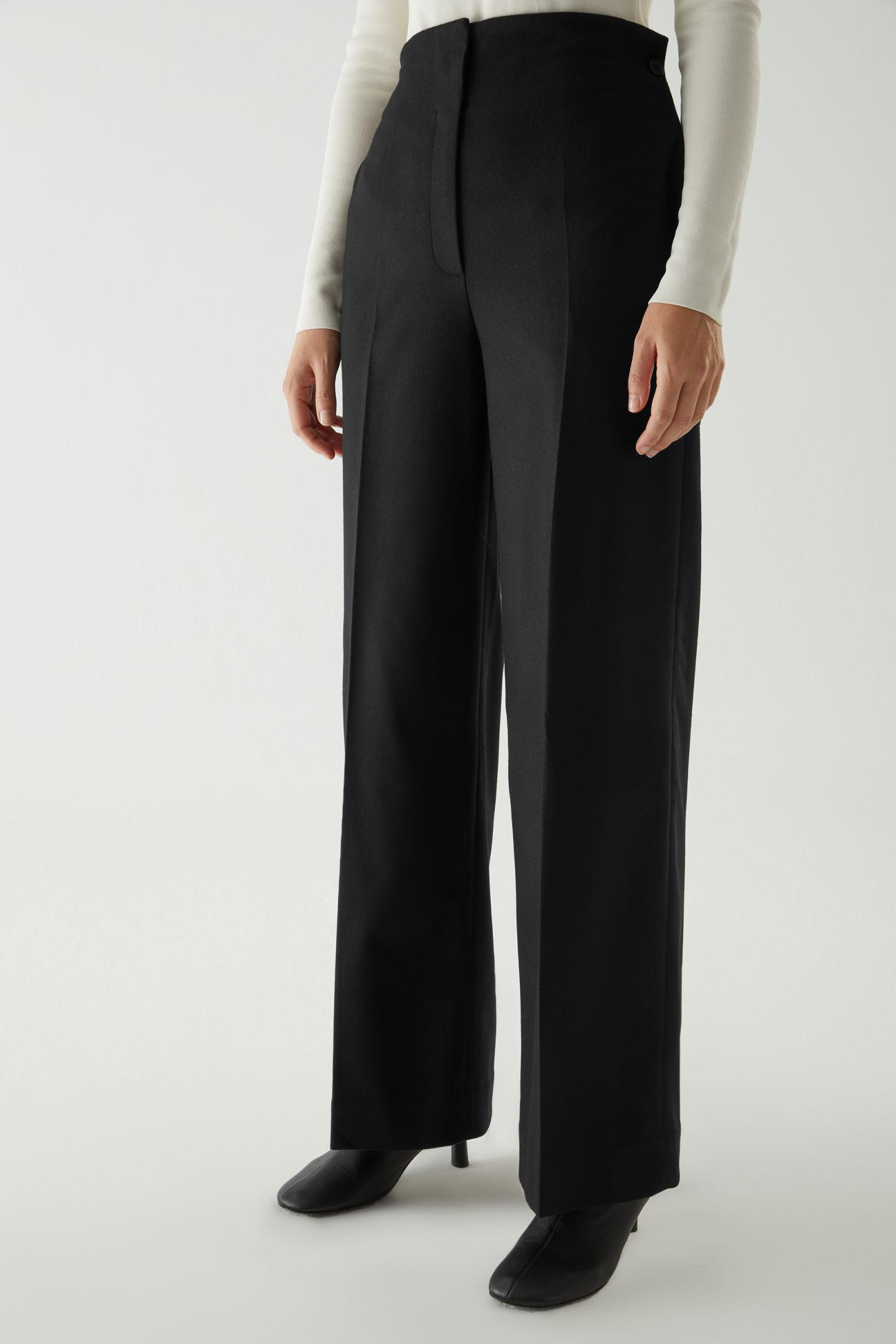 WOOL-CASHMERE TAILORED PANTS