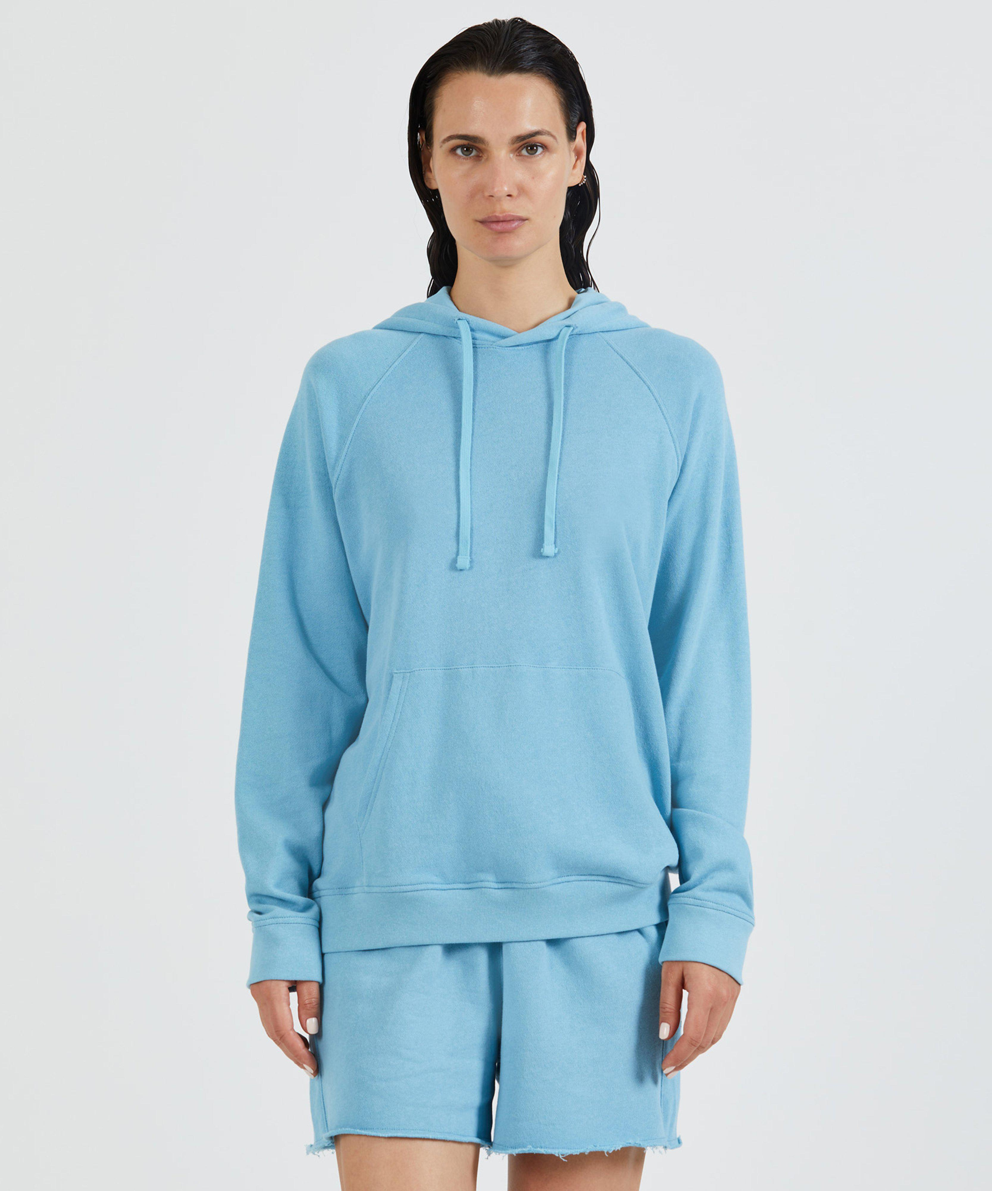 French Terry Pull-Over Hoodie - Ocean Blue