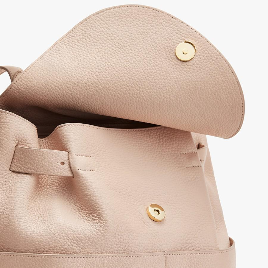 Women's Leather Backpack in Blush Pink | Pebbled Leather by Cuyana 2