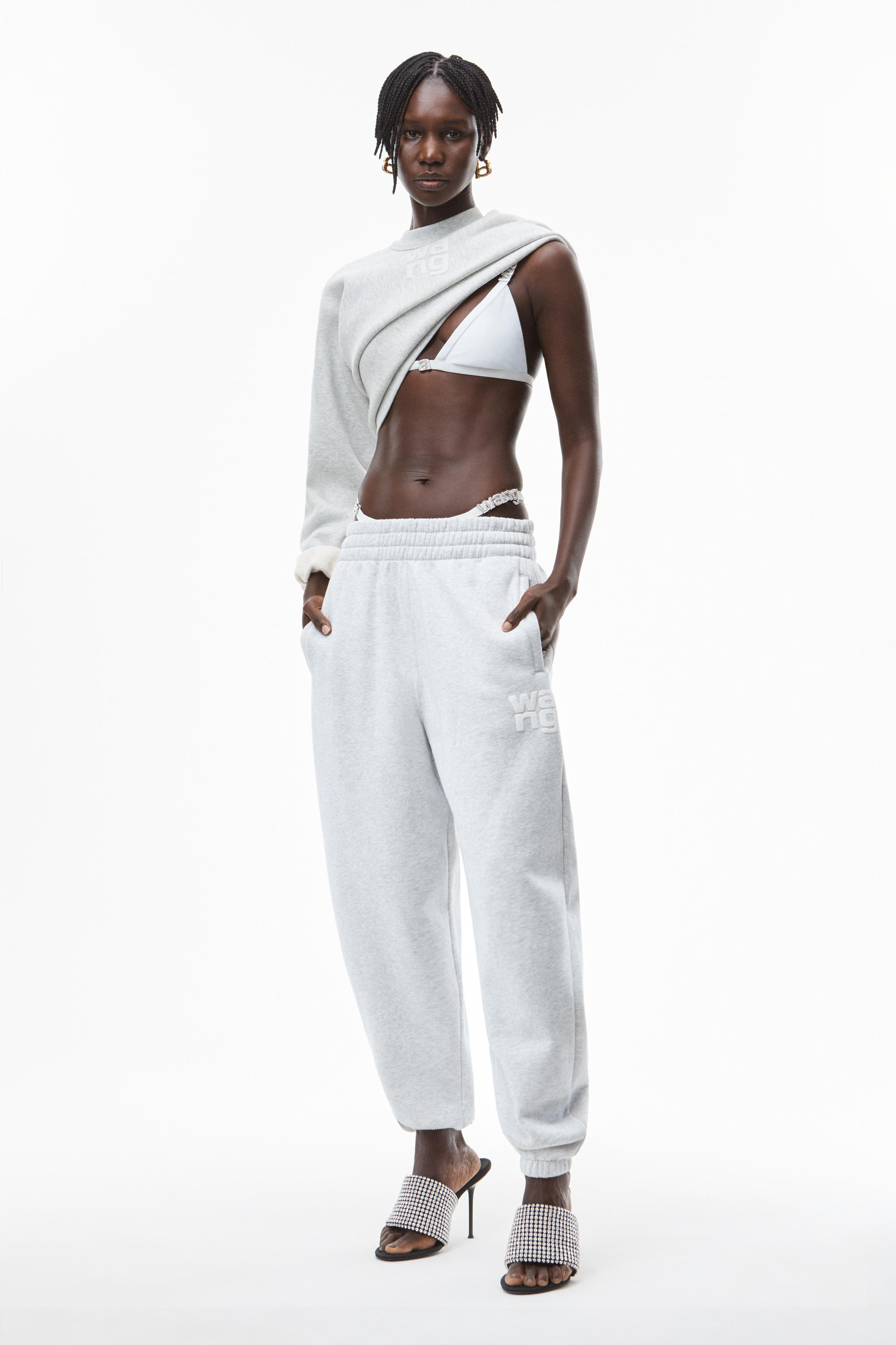 puff paint logo sweatpant in terry