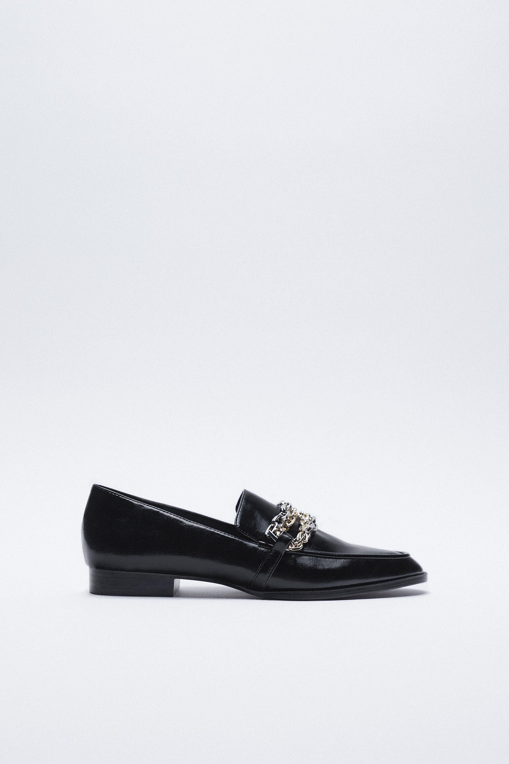 LOW HEEL MULTI-CHAIN LOAFERS