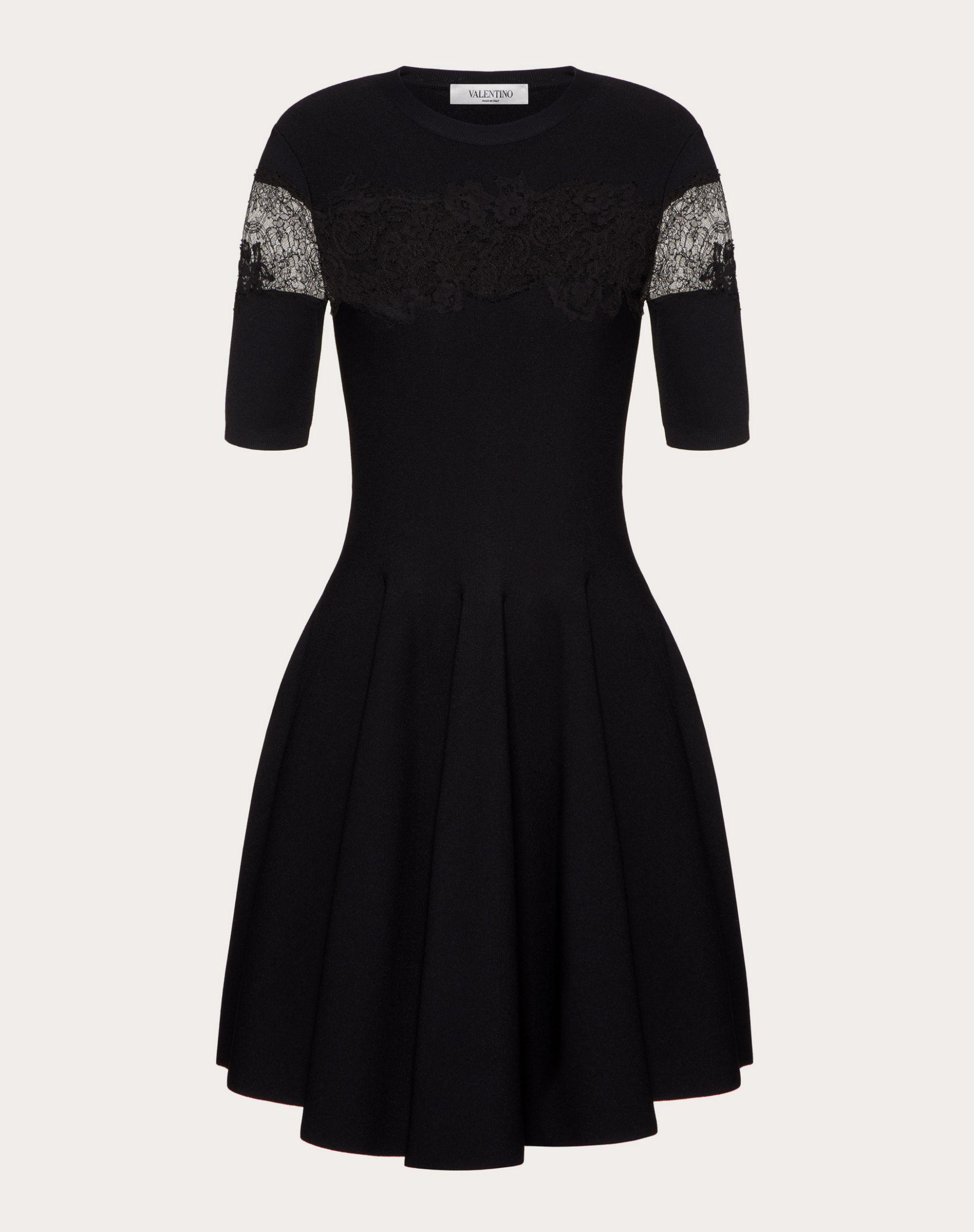 JERSEY DRESS IN STRETCHED VISCOSE AND LACE 4