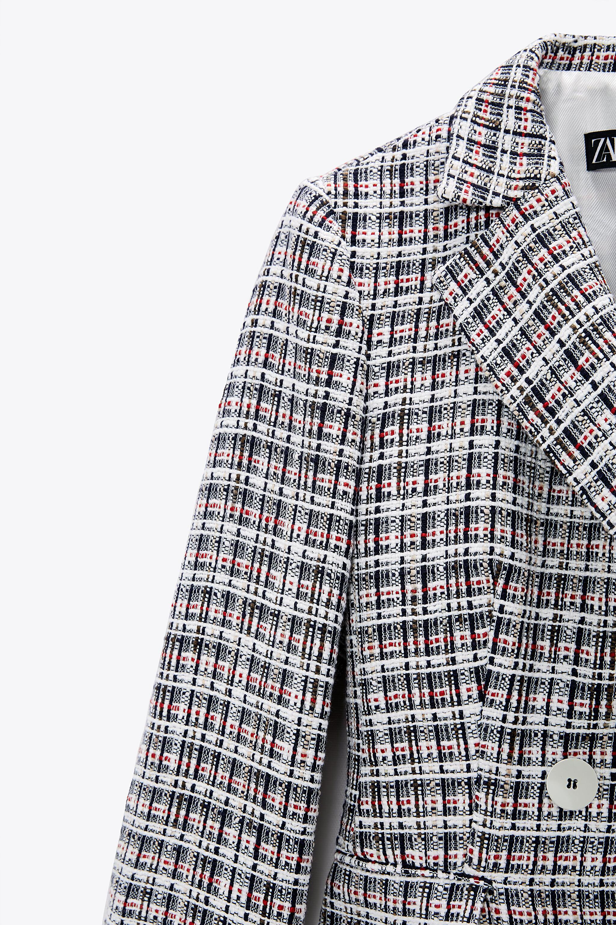 DOUBLE BREASTED TEXTURED WEAVE JACKET 10