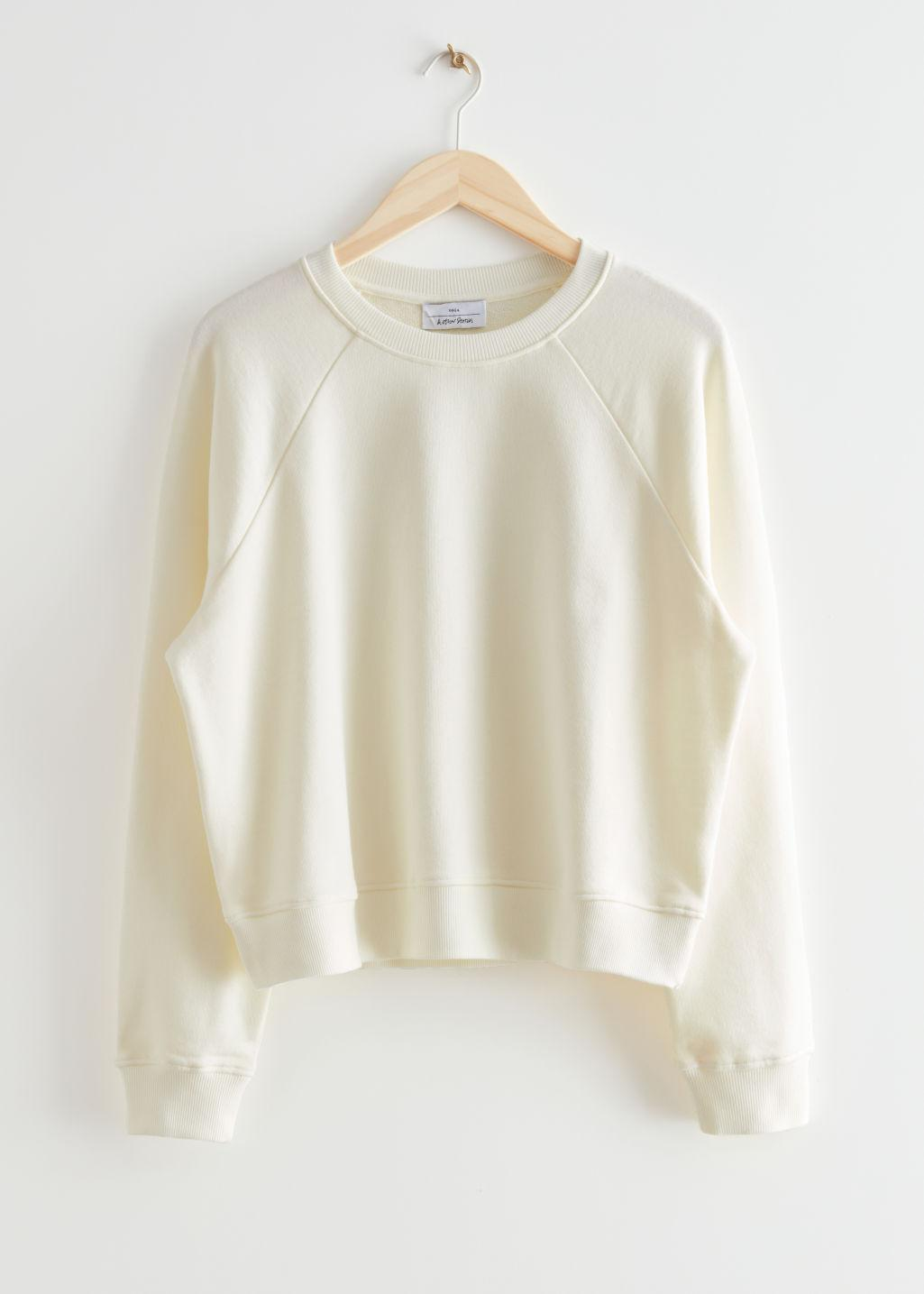 Relaxed Cropped Cotton Sweatshirt
