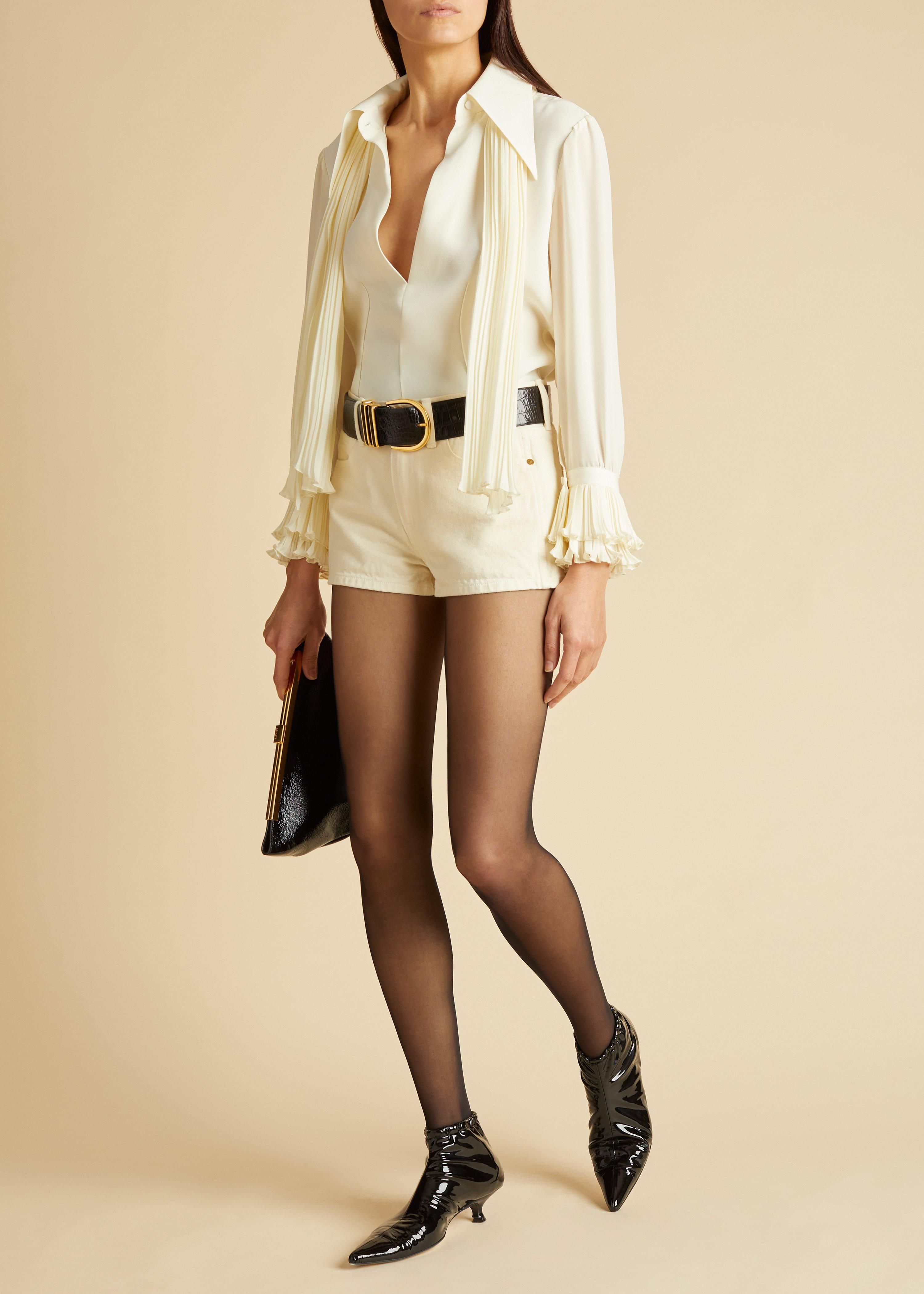 The Charlotte Jean Short in Ivory