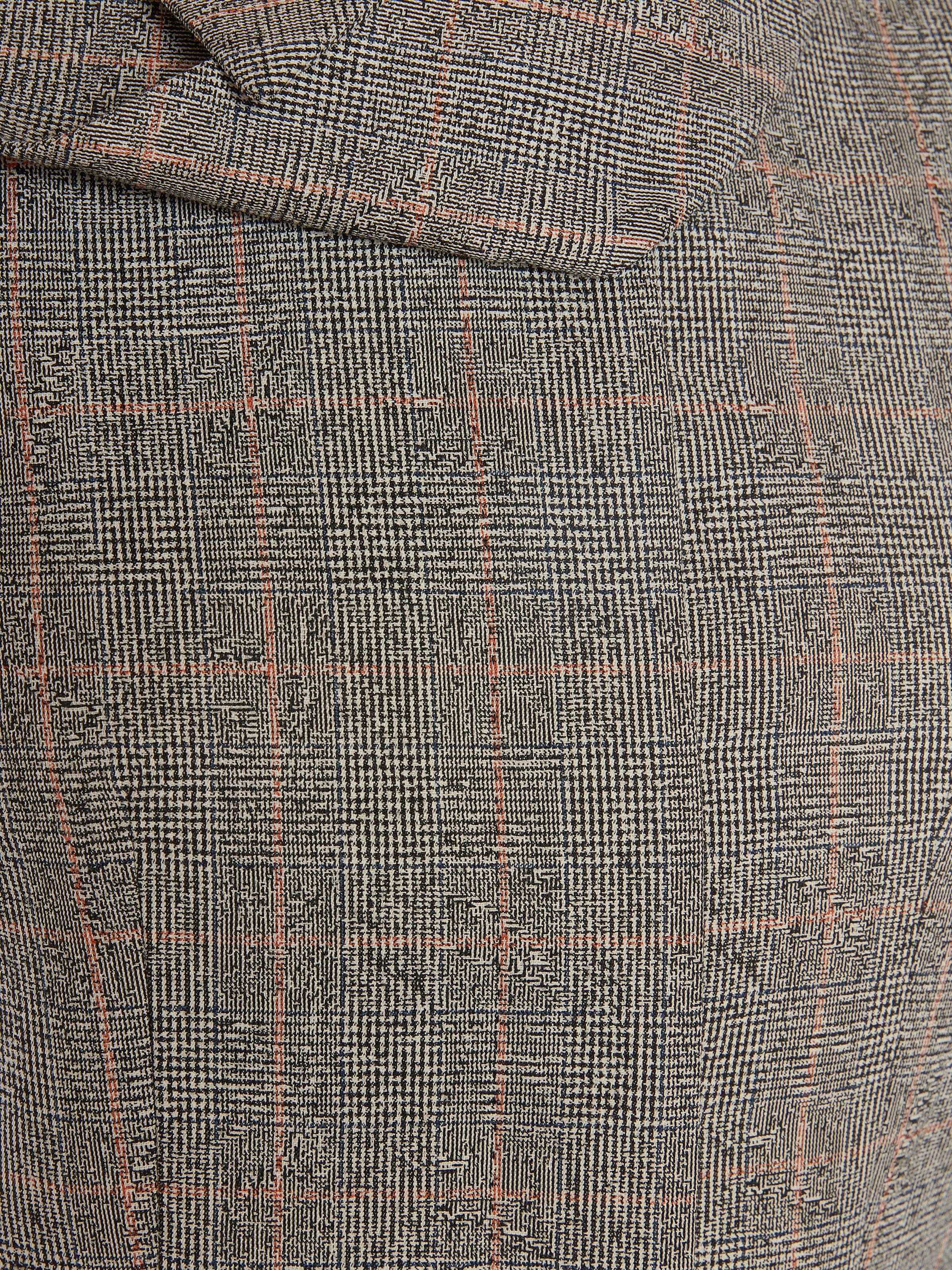 Scarf Neck Distressed Prince of Wales Jacket 4