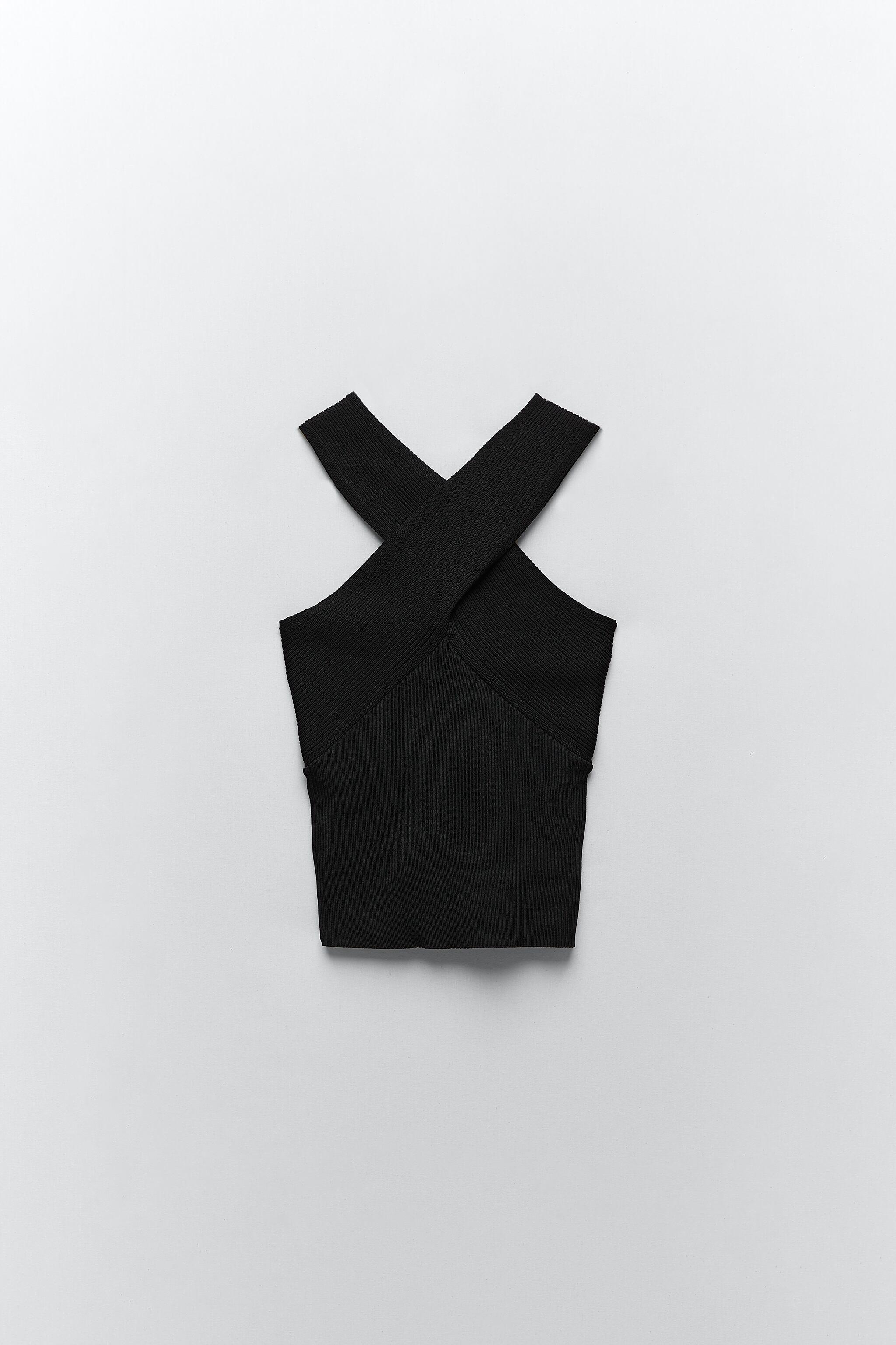KNIT TOP WITH CROSSED STRAPS 8