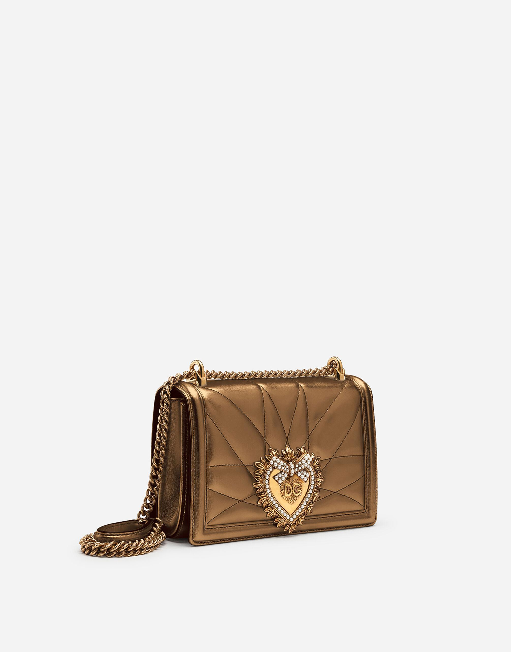 Medium Devotion bag in quilted nappa mordoré 1