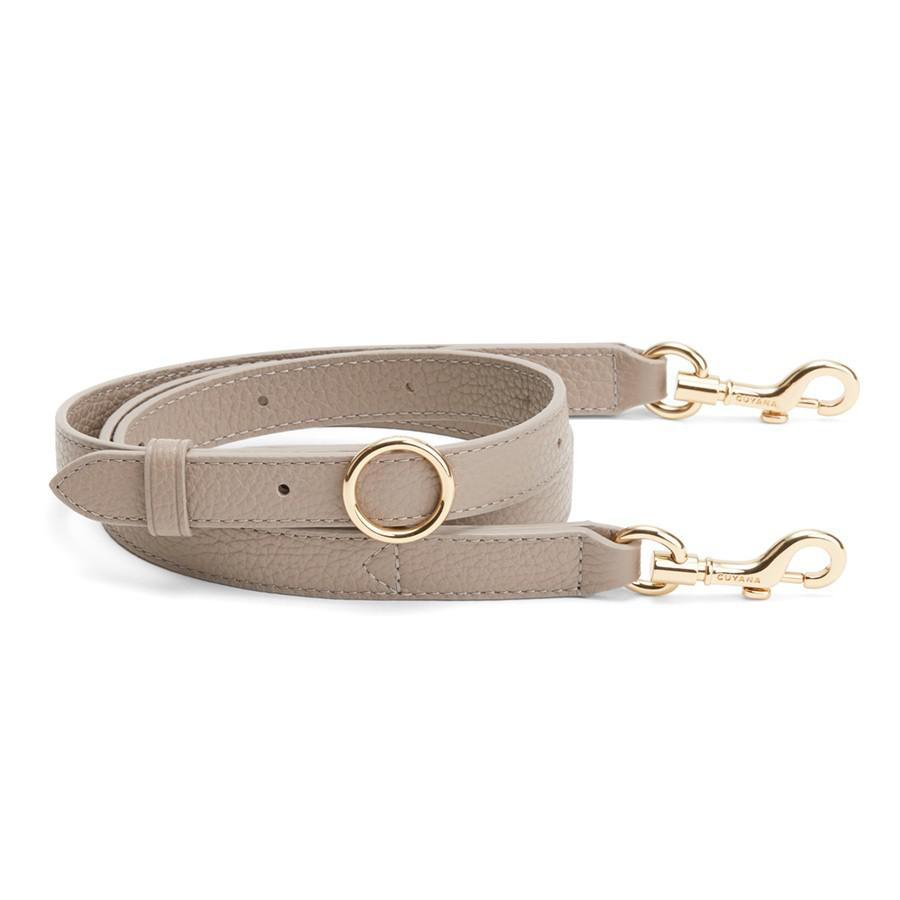 Women's Adjustable Strap in Stone | Pebbled Leather by Cuyana