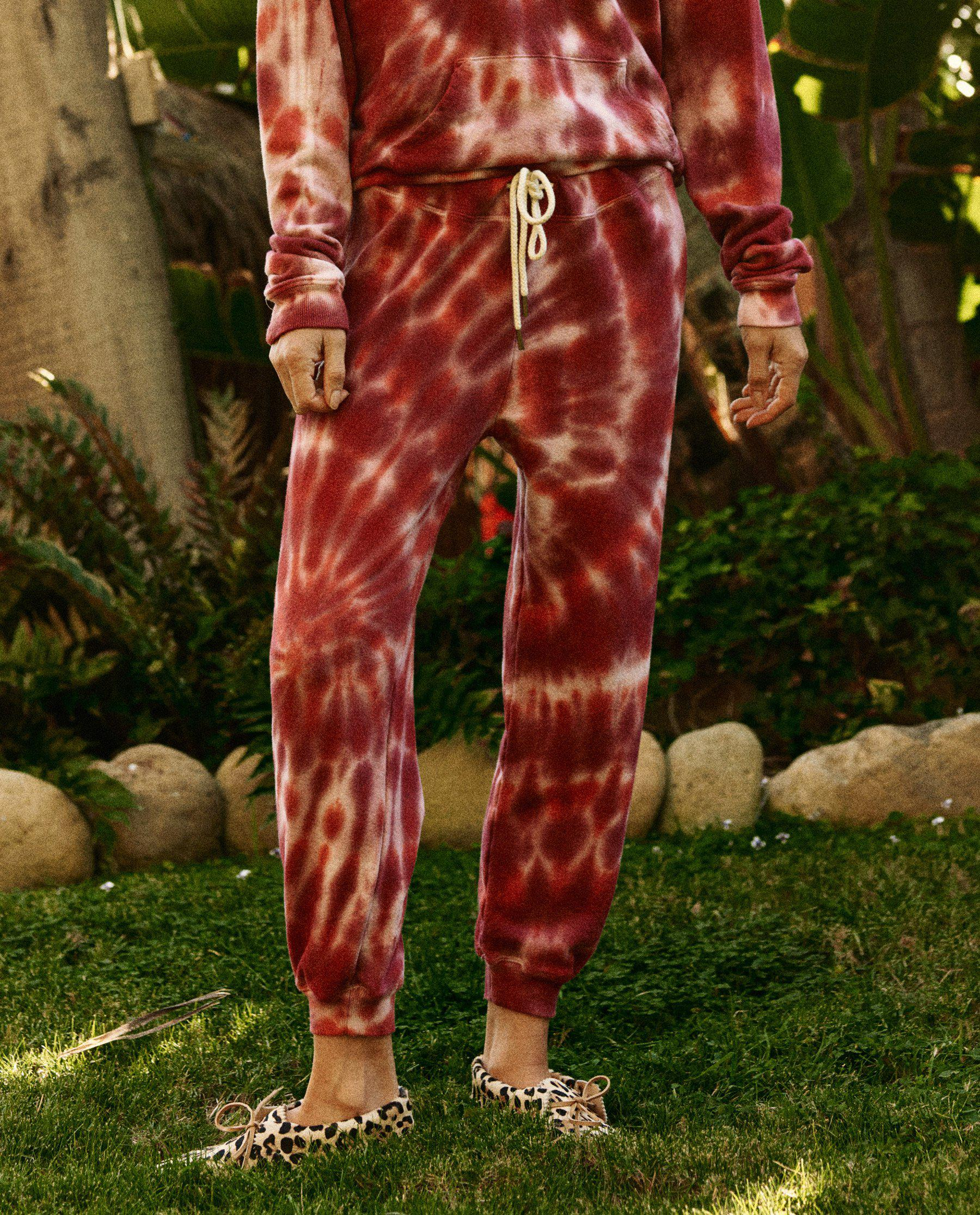 The Cropped Sweatpant. Novelty -- Jam Tie Dye