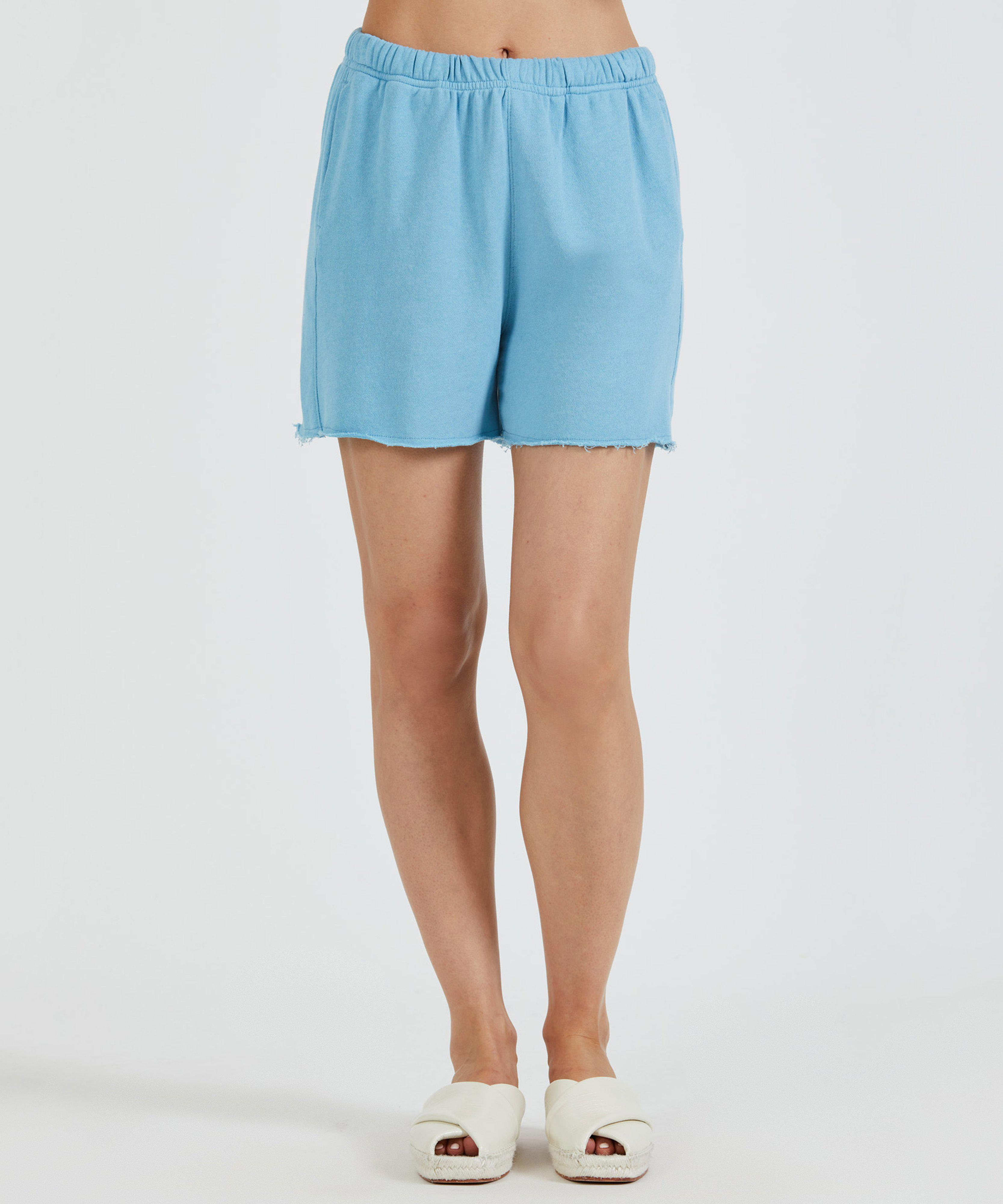 French Terry Pull-On Short - Ocean Blue
