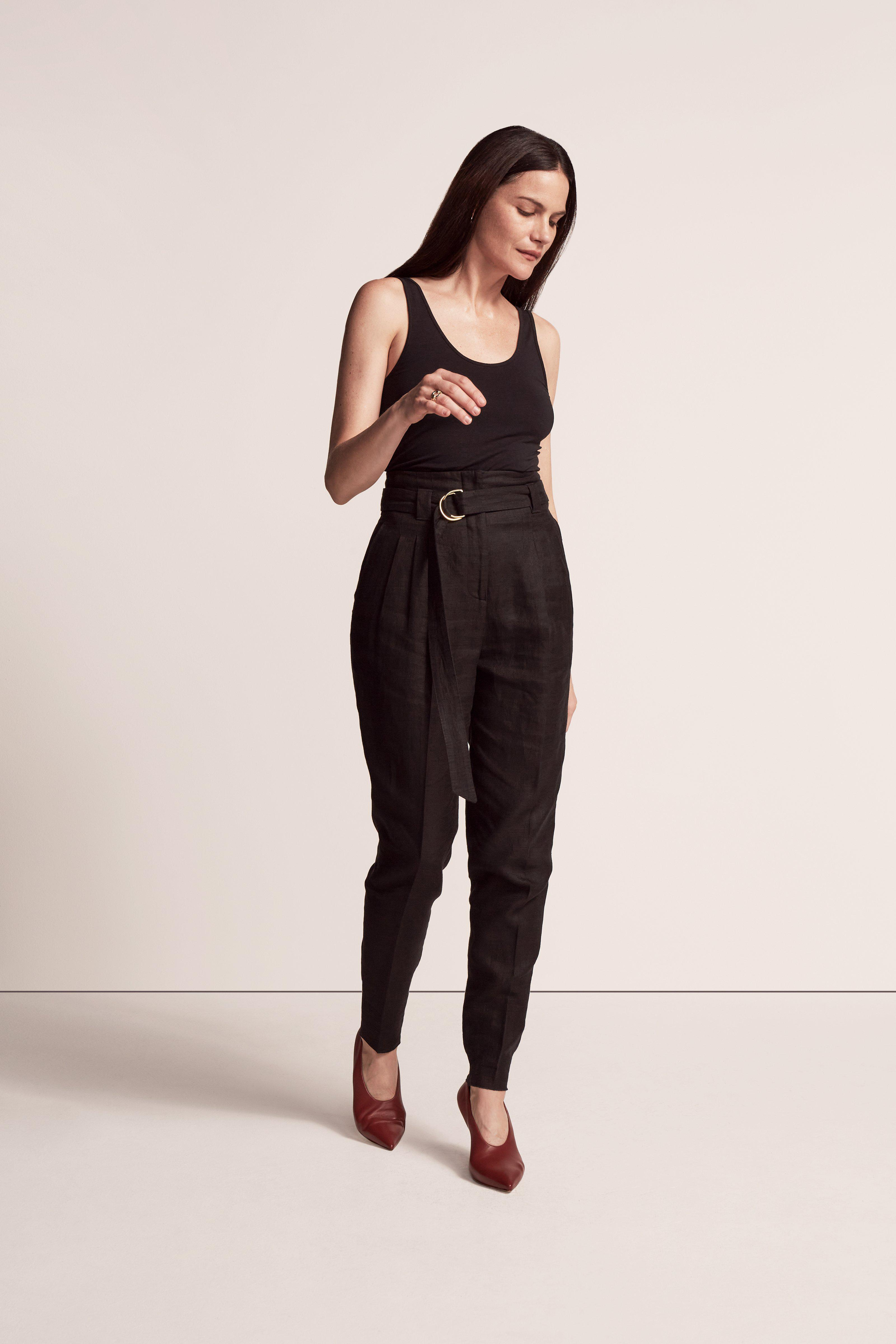 PAPER BAG PLEATED TROUSER 2