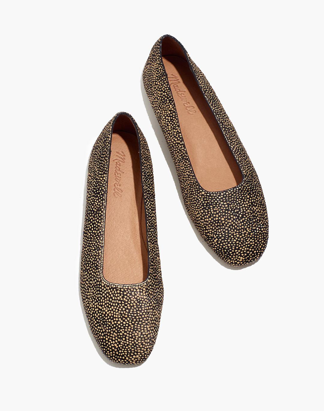 The Cory Flat in Spotted Calf Hair