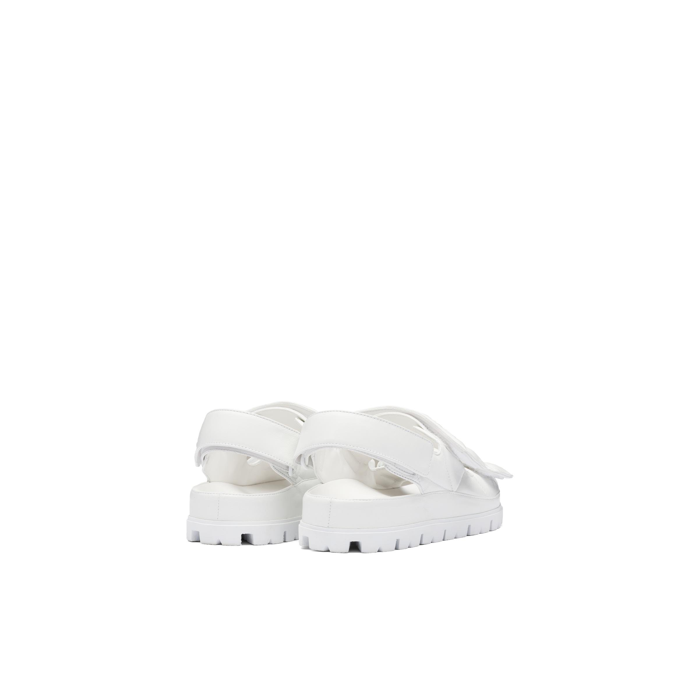 Padded Nappa Leather Sandals Women White 3