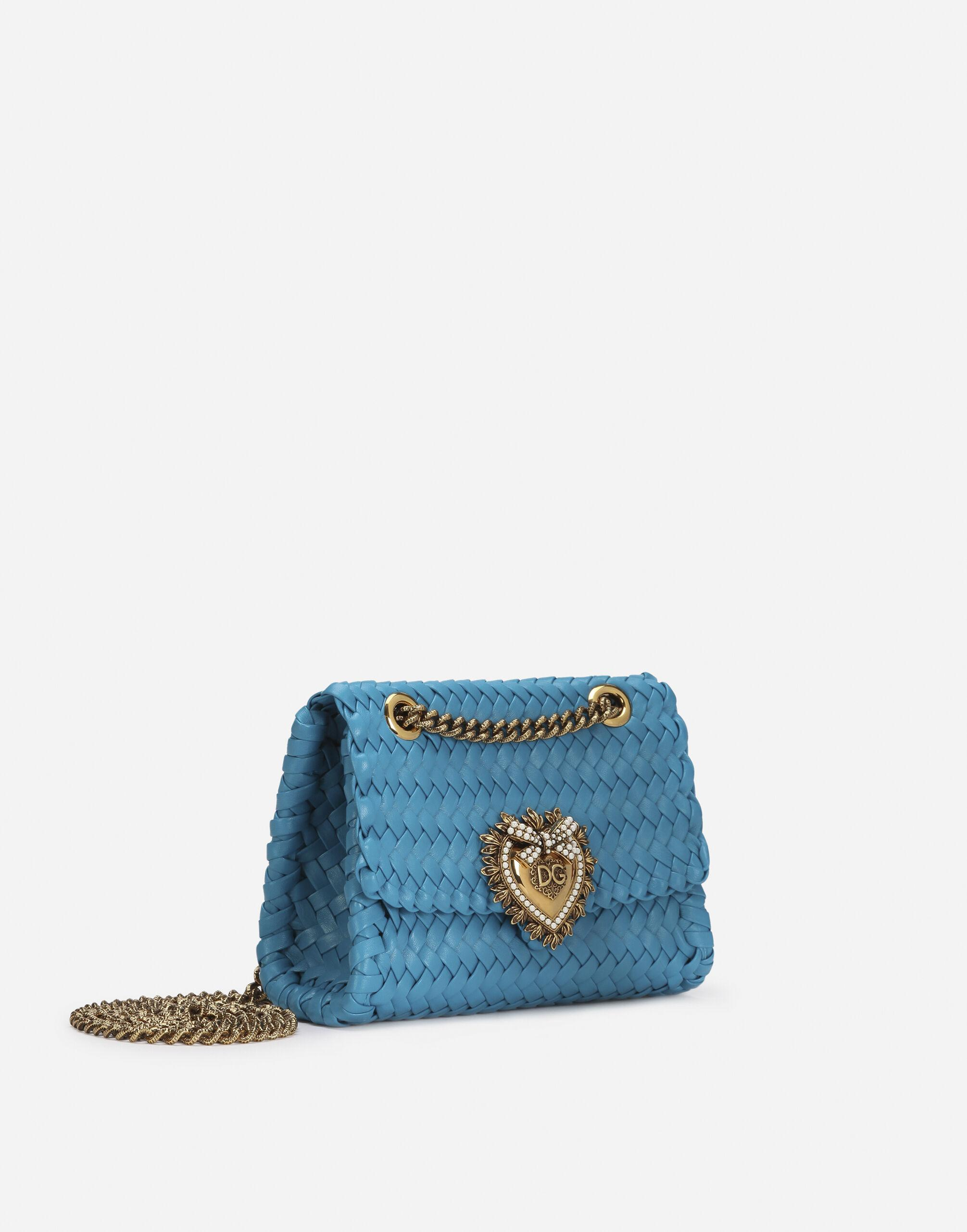 Small Devotion shoulder bag in woven nappa leather 1