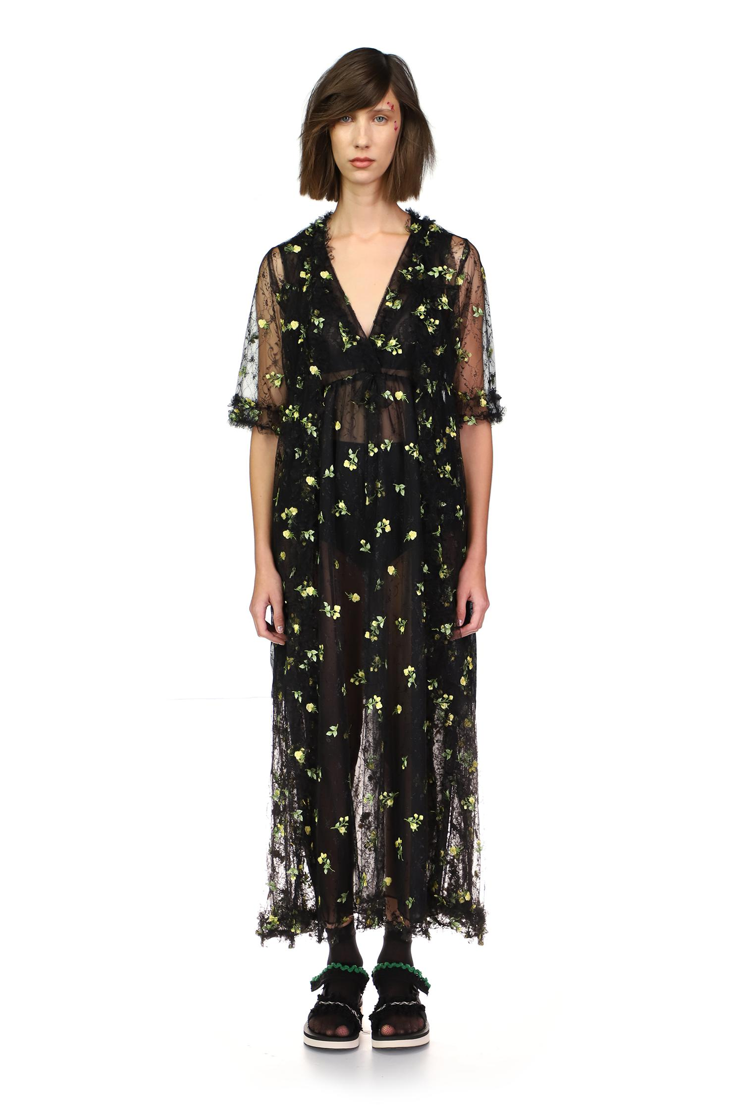 Scattered Blooms Lace Duster