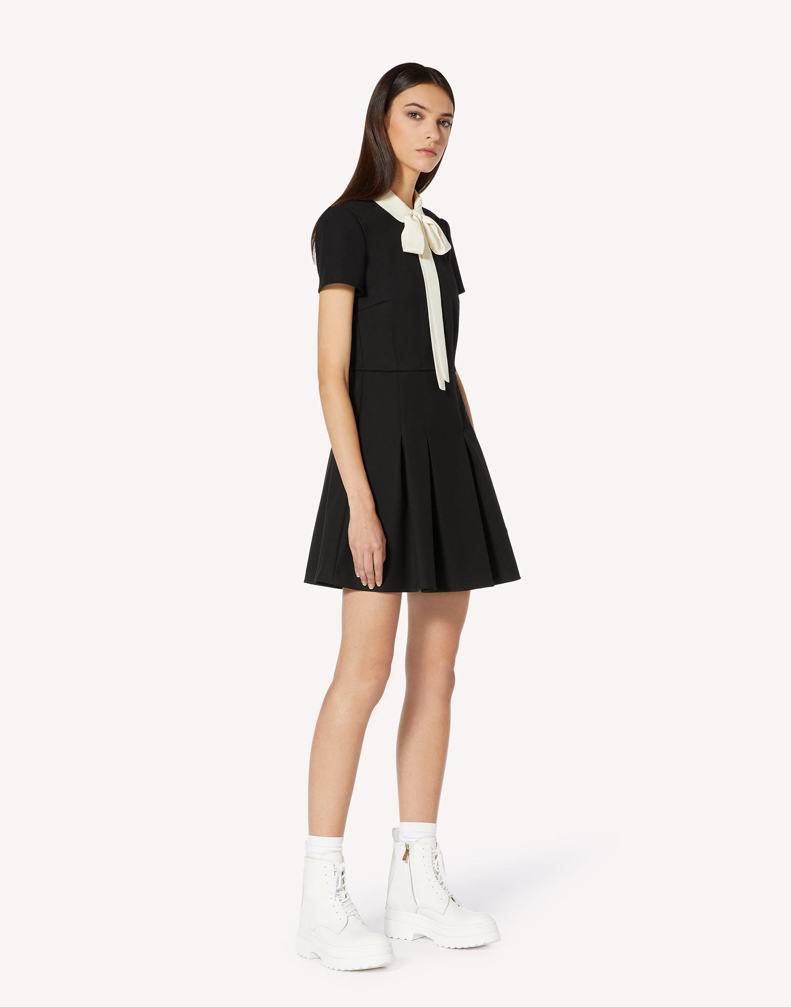 TRICOTINE DRESS WITH COLLAR DETAIL 2