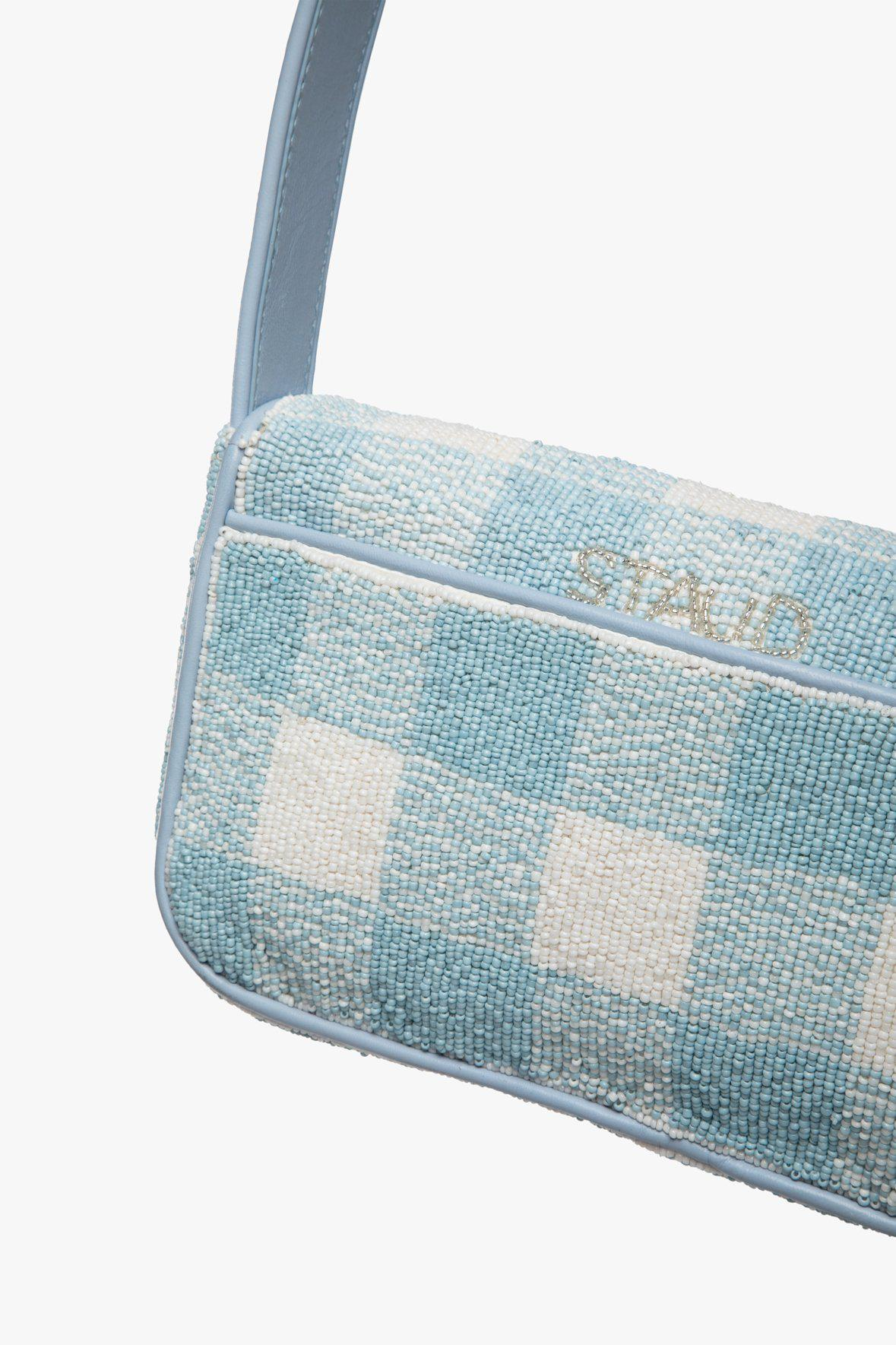 TOMMY BEADED BAG   ARCTIC BLUE WHITE 7
