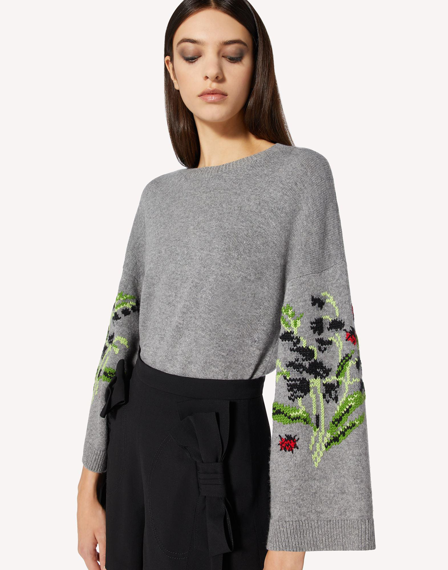 FLORAL JACQUARD WOOL-BLEND SWEATER 3
