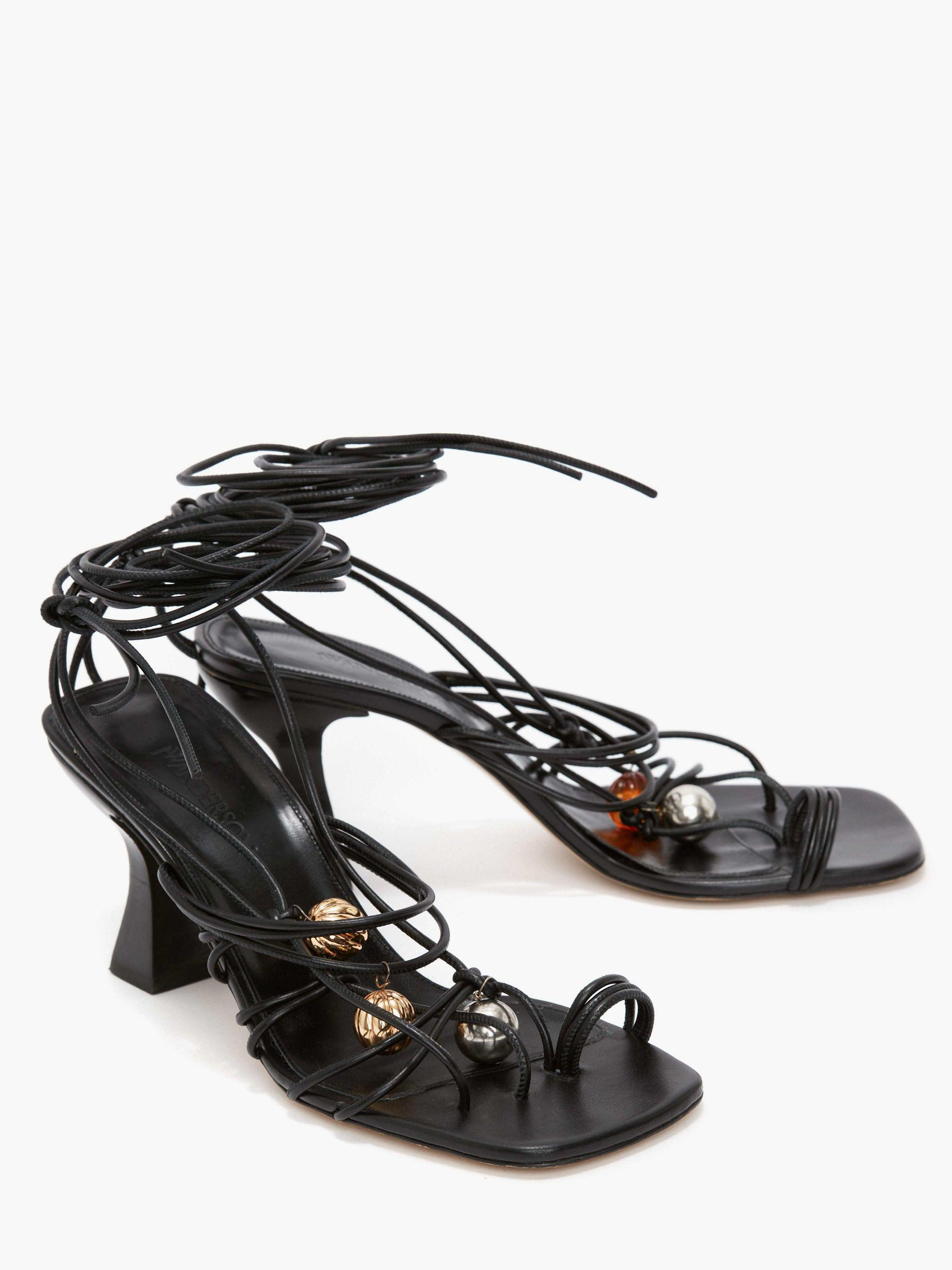 WOMEN'S OPEN LACED HEEL WITH BEADS 1