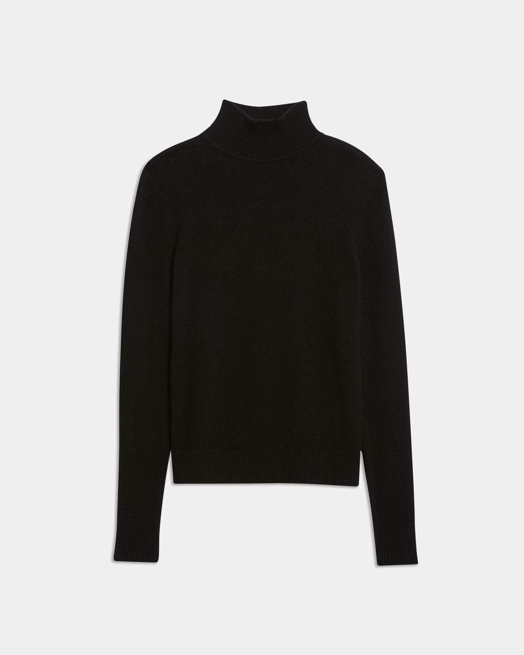 Basic Turtleneck Sweater in Feather Cashmere 5