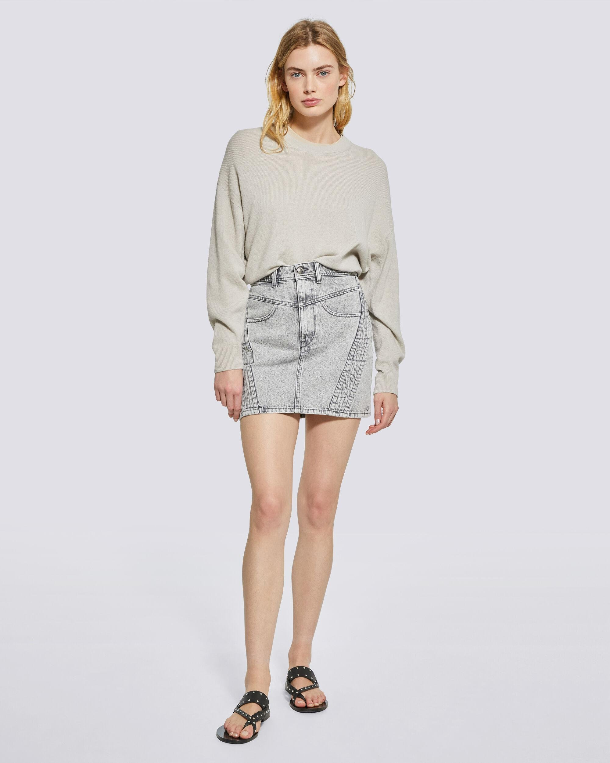 TRIONA COTTON AND CASHMERE SWEATER